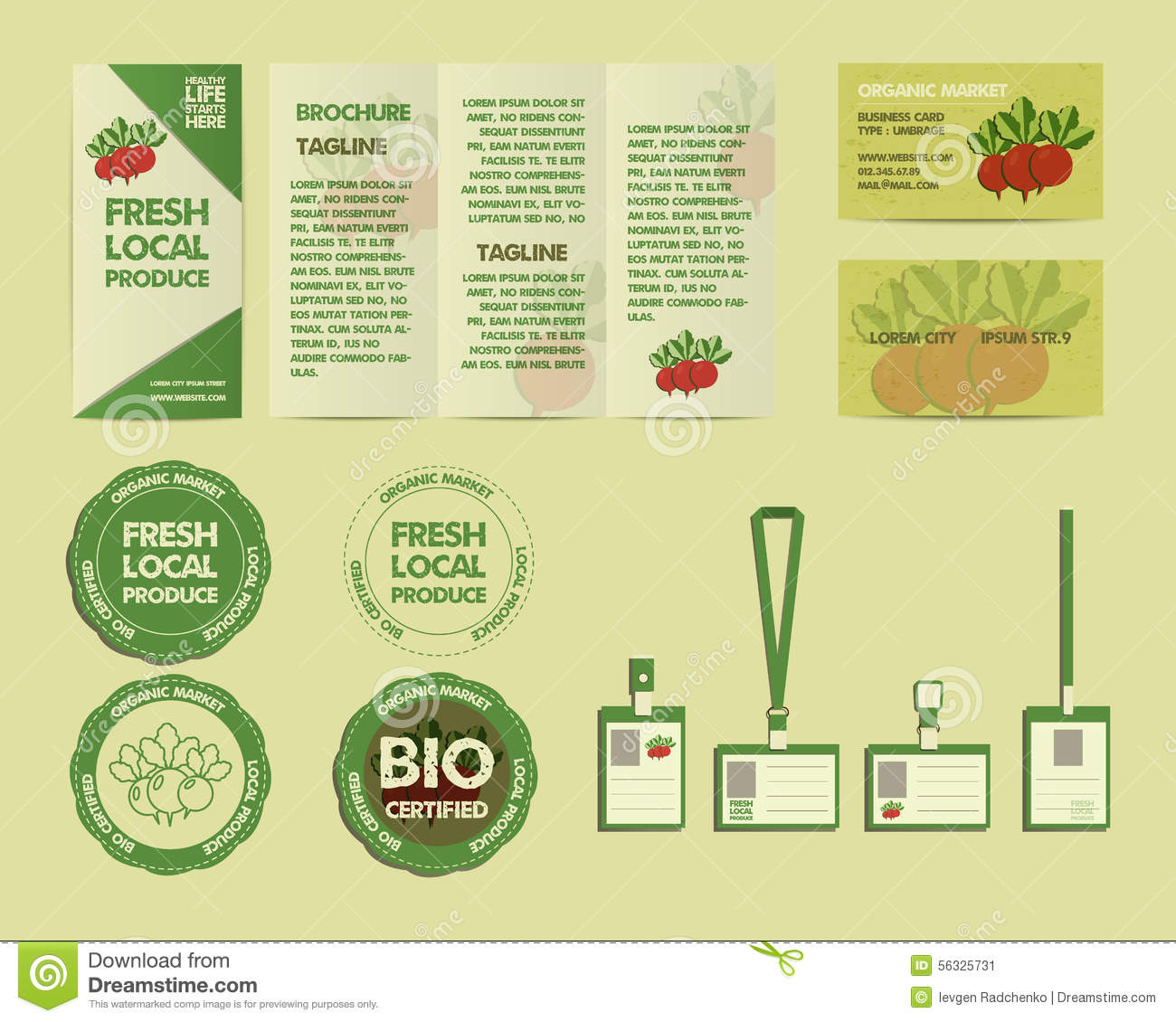 Eco food identity elements stock vector image of background royalty free vector magicingreecefo Choice Image
