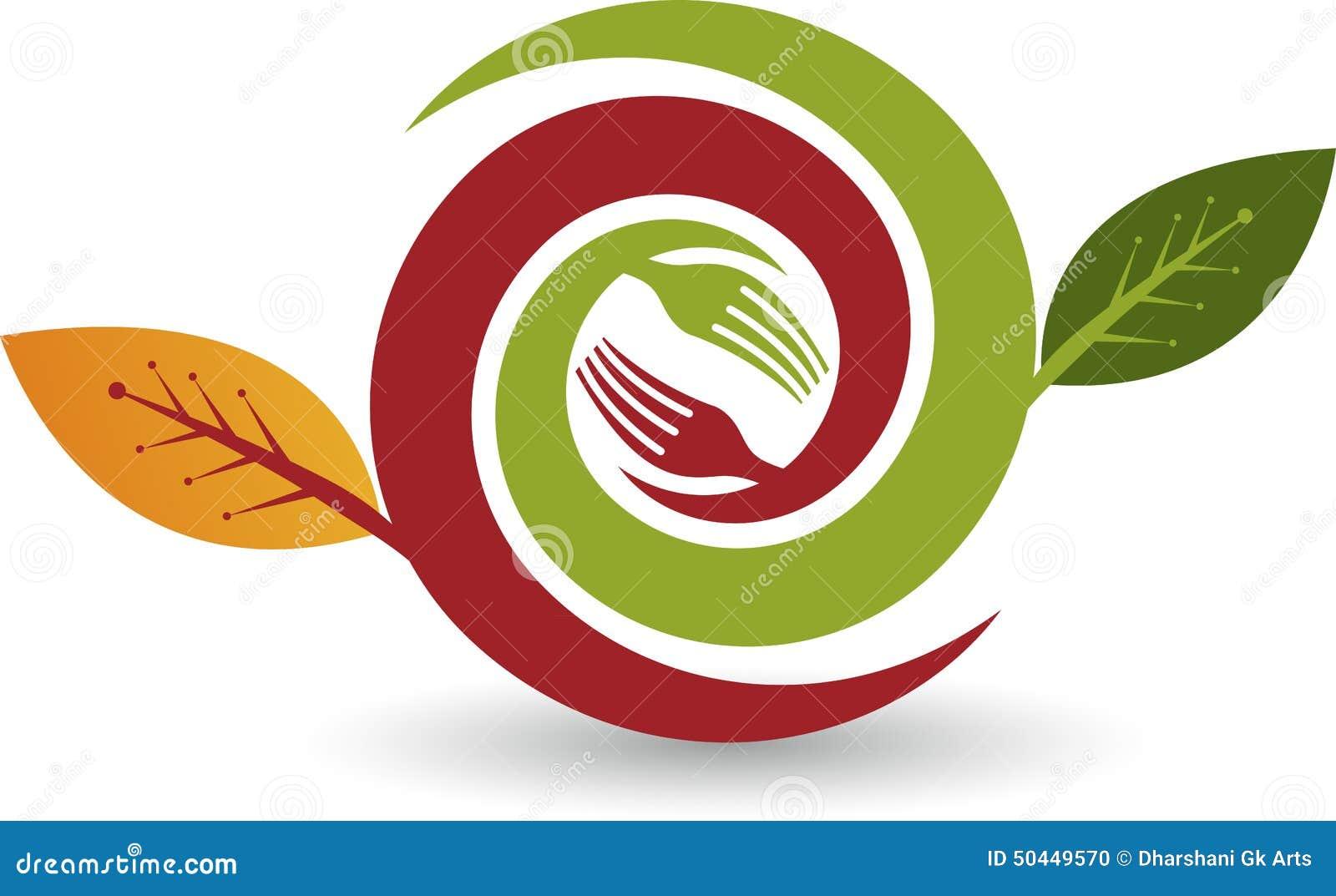 Herbal food logo vector illustration for Cuisine logo