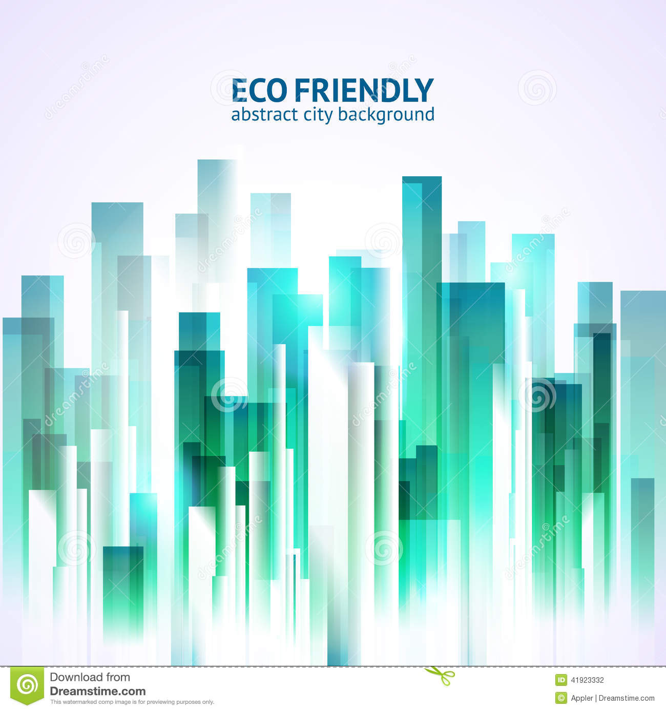 eco friendly abstract city background stock vector illustration of