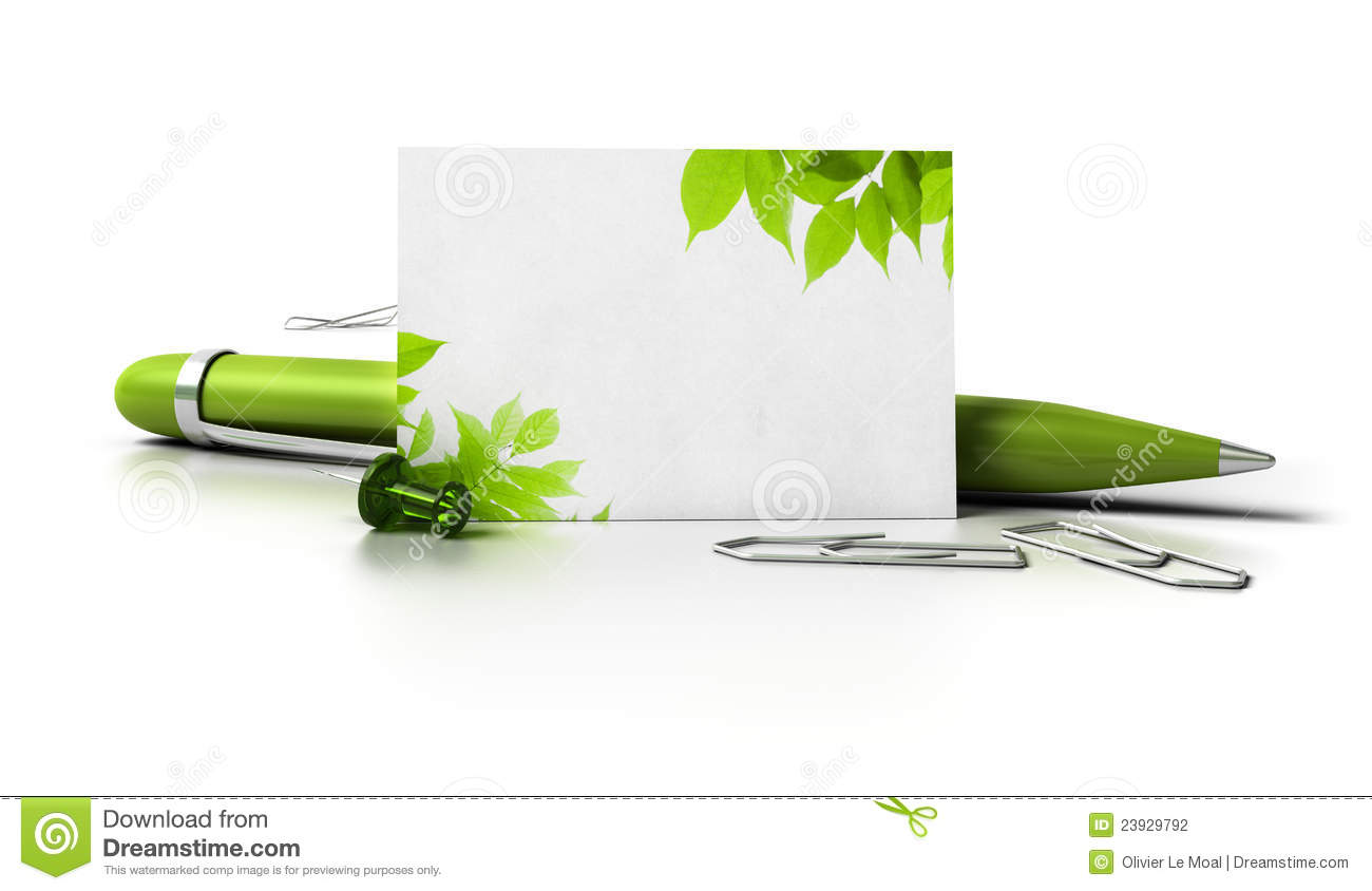 Eco Friendly Blank Business Card Stock Illustration - Illustration ...
