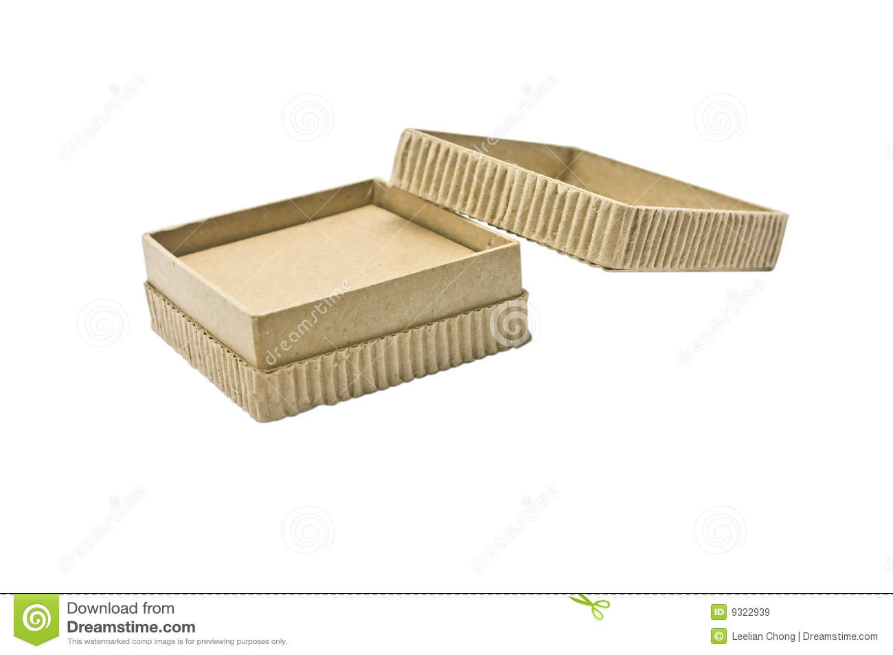 Eco Friendly Cardboard Box Royalty Free Stock Images