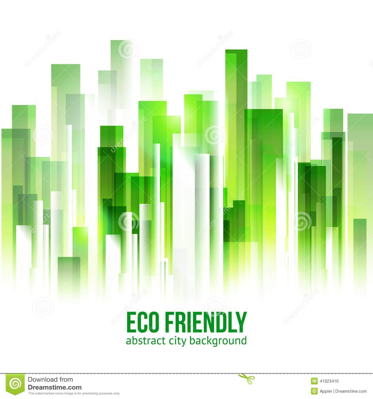 eco friendly green city background stock vector. Black Bedroom Furniture Sets. Home Design Ideas