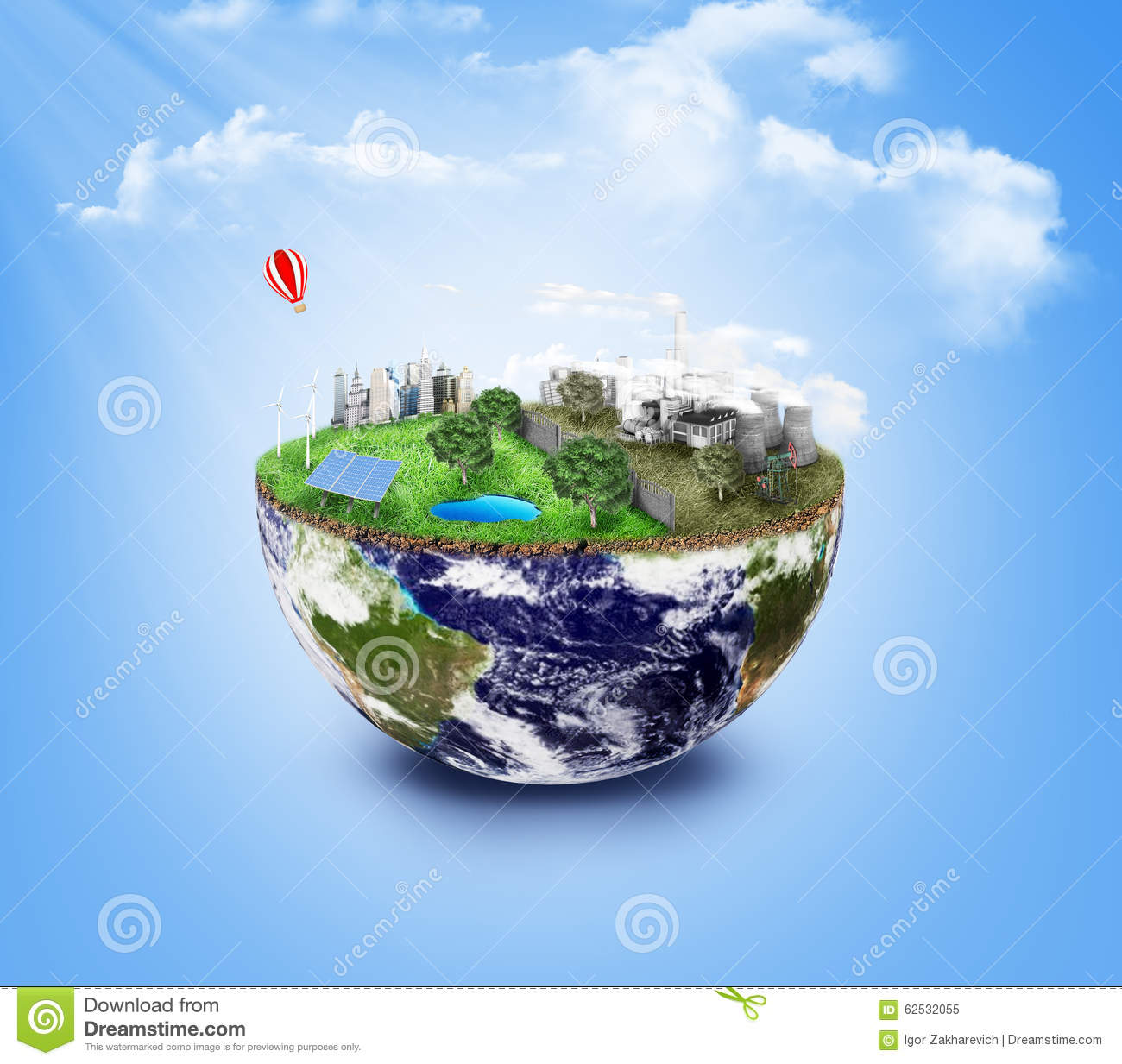 Eco Friendly Green Energy Concept Stock Image Image Of