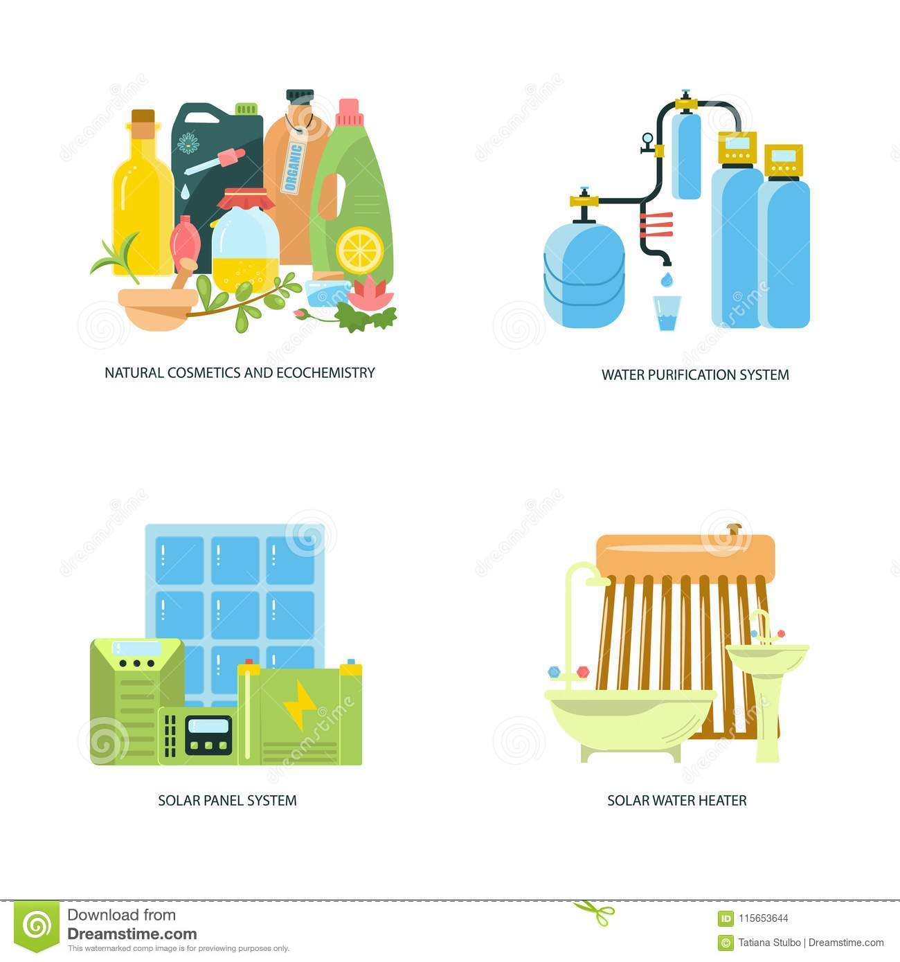 Eco Friendly Home Infographic Stock Vector - Illustration of city ...