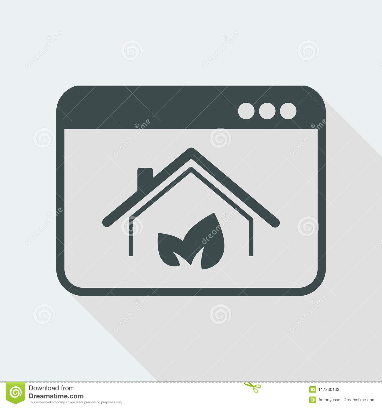 Eco Friendly Home Vector Icon For Computer Website Or Application