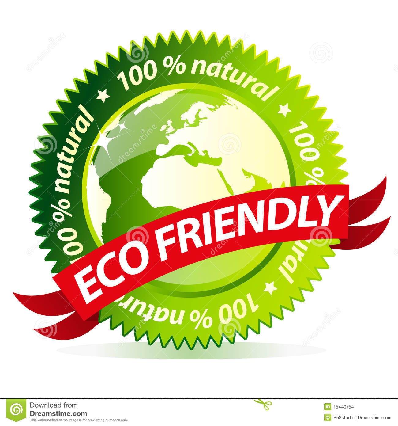 Eco Friendly Label Stock Vector. Image Of Badge