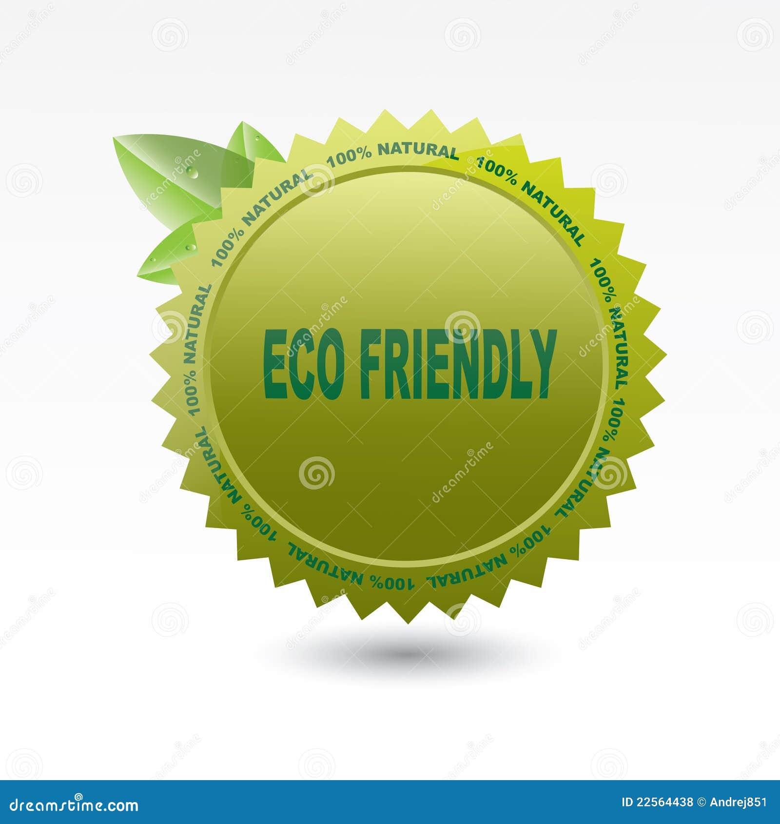 Eco Friendly Label Stock Illustration. Illustration Of