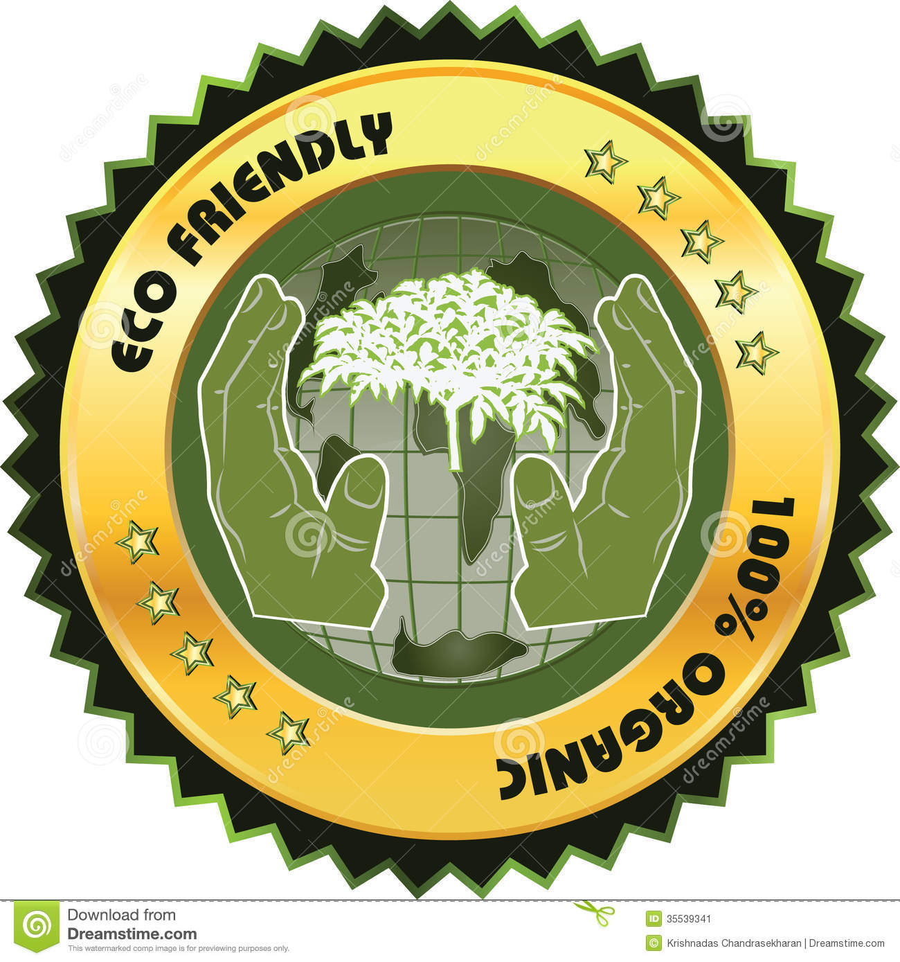 Eco Friendly Label Stock Vector. Illustration Of Friendly
