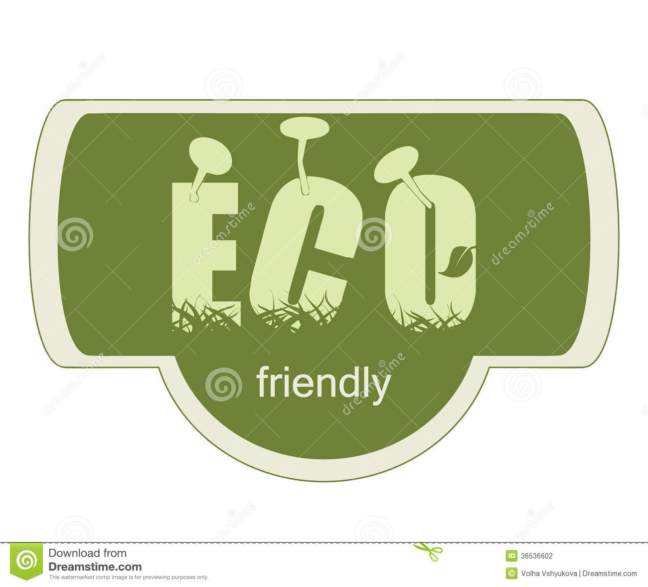 Eco friendly label stock vector image of ingredients for Eco friendly home products