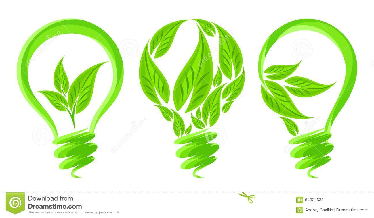 eco friendly lamp stock vector image 64932631