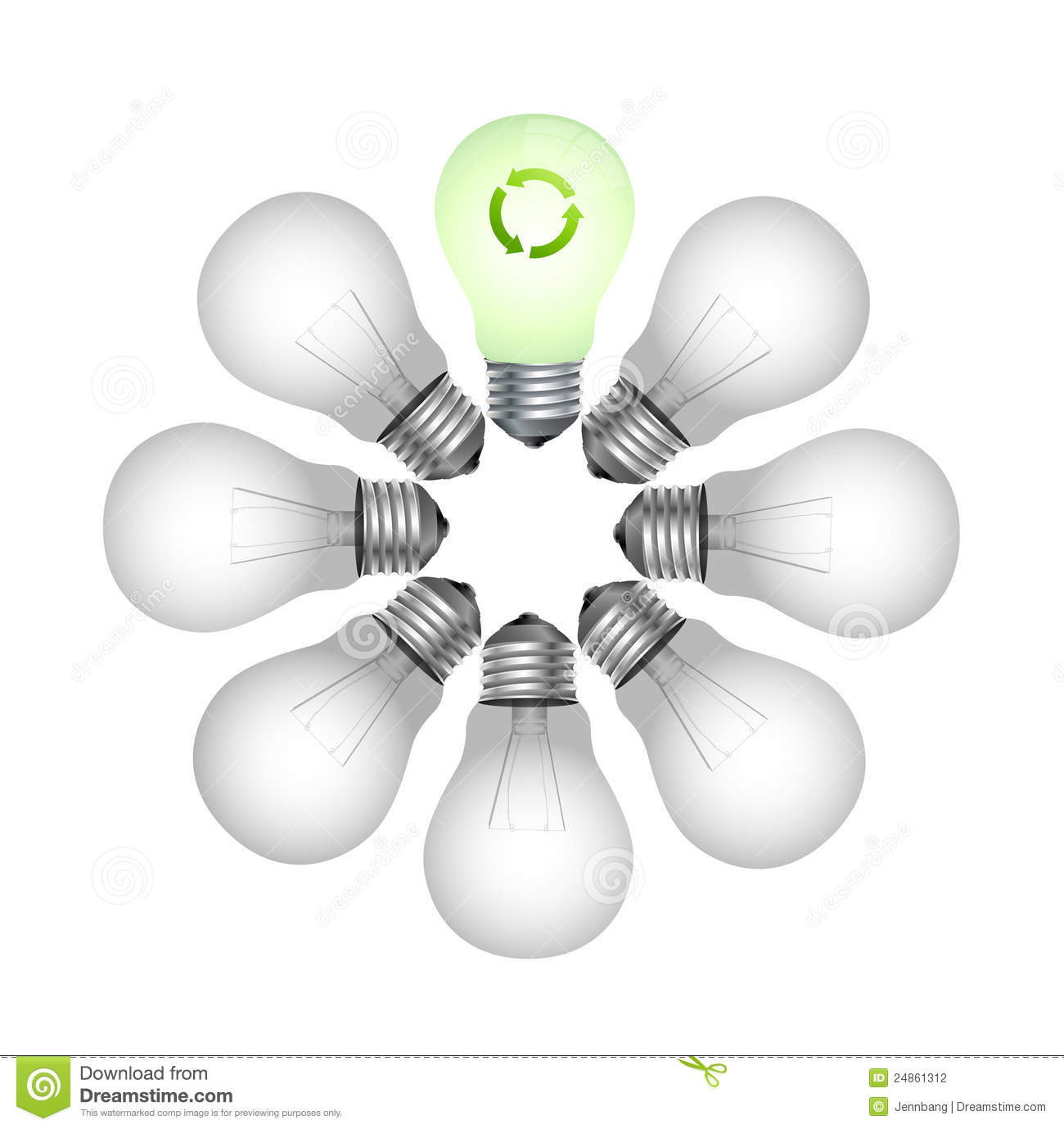 Eco Friendly Light Bulb Stock Photography Image 24861312