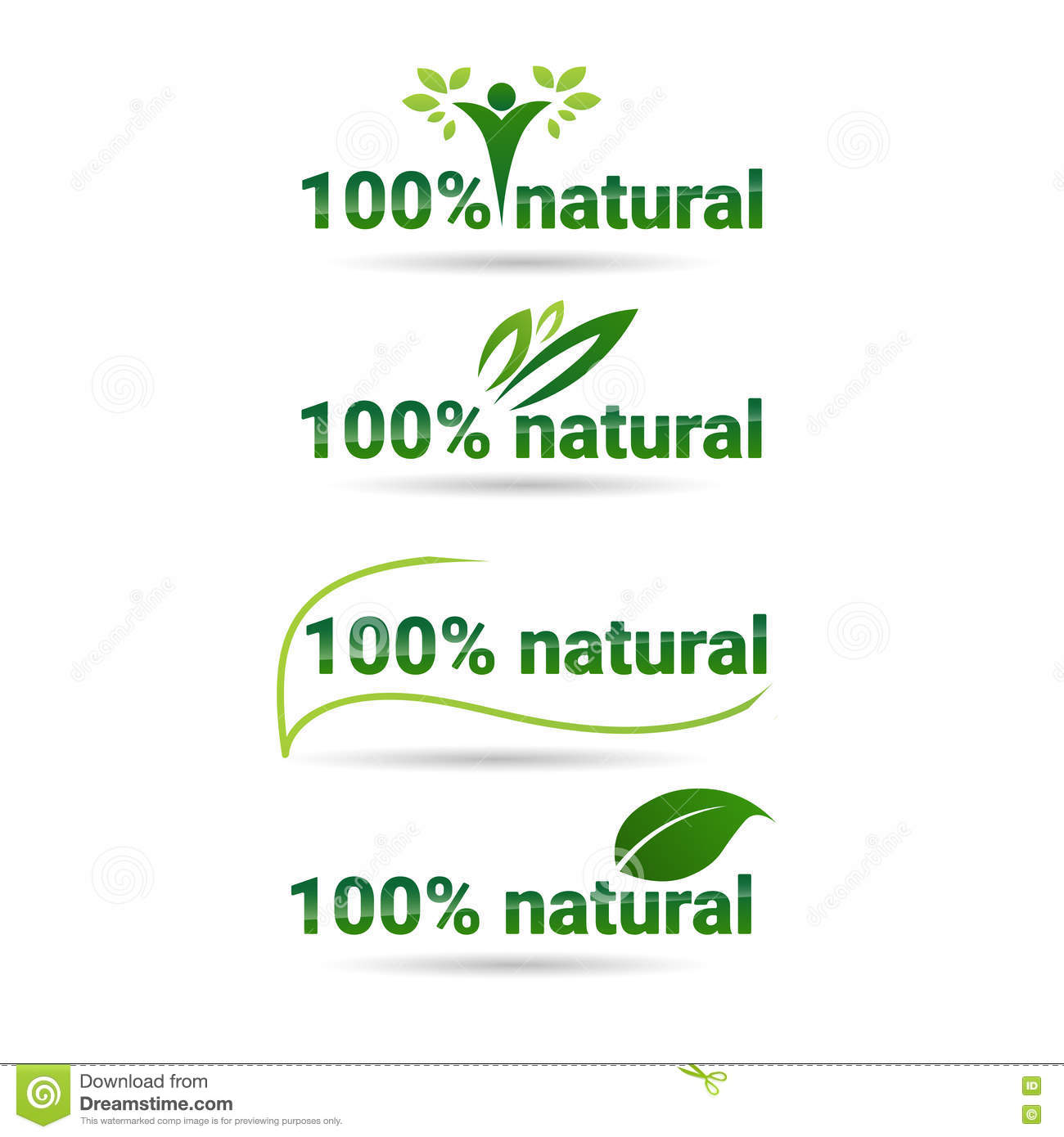 0e255480286 Eco Friendly Organic Natural Product Web Icon Set Green Logo Collection  Flat Vector Illustration