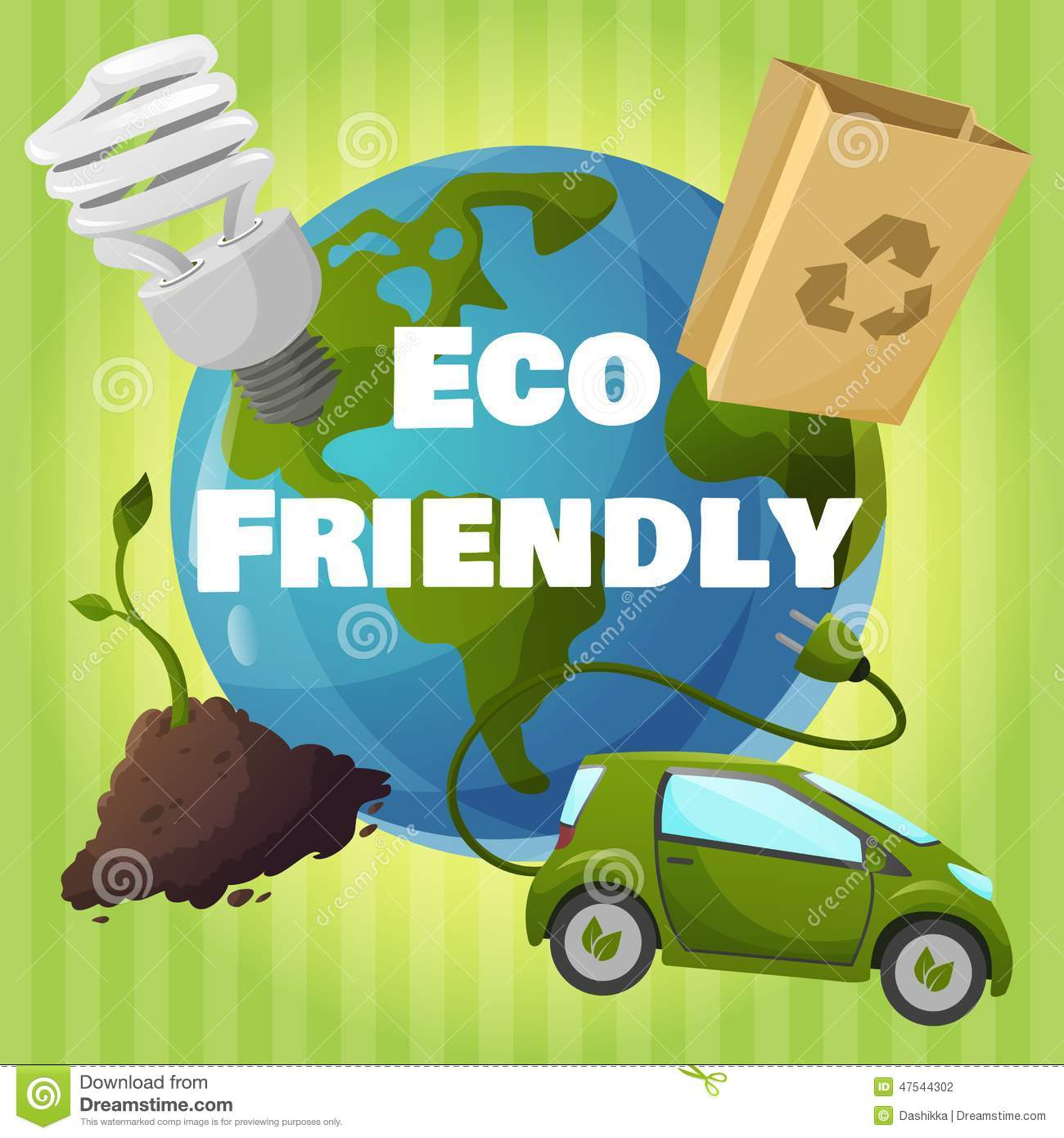 Eco Friendly Poster Stock Vector - Image: 47544302