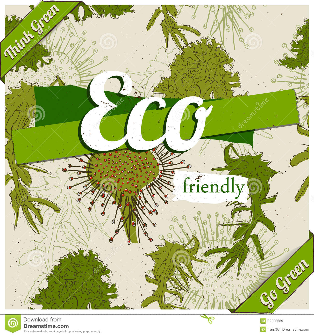 Eco Friendly Poster. Royalty Free Stock Images - Image: 32938539