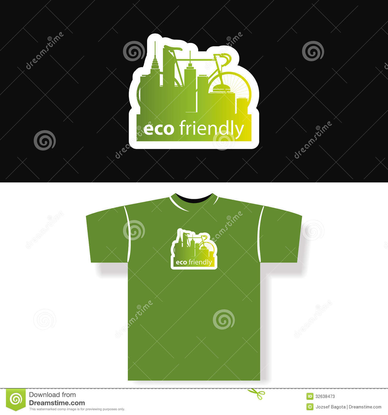 Eco friendly t shirt design stock vector illustration for Environmentally friendly t shirts