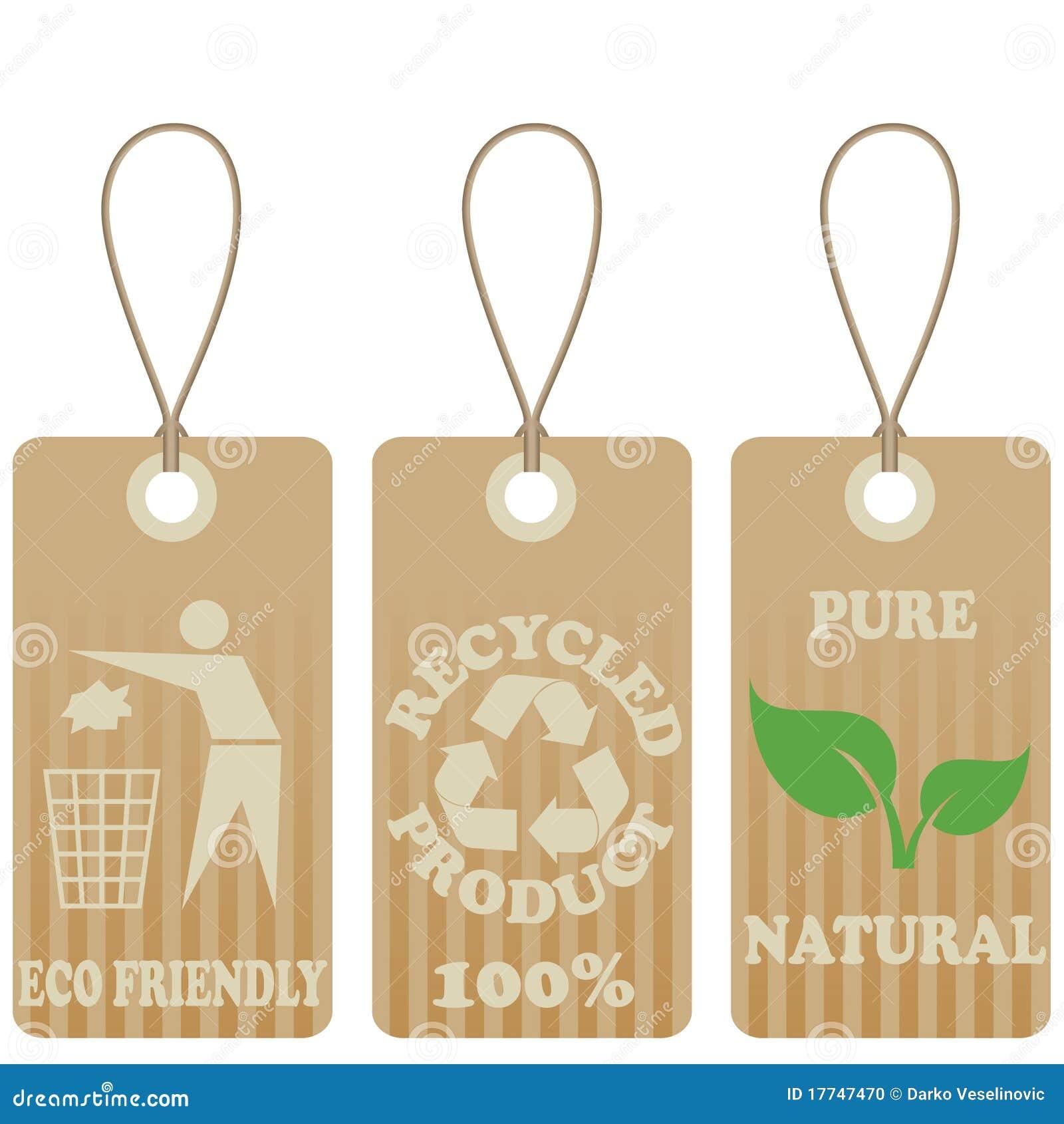 Eco Friendly Tags Stock Photo