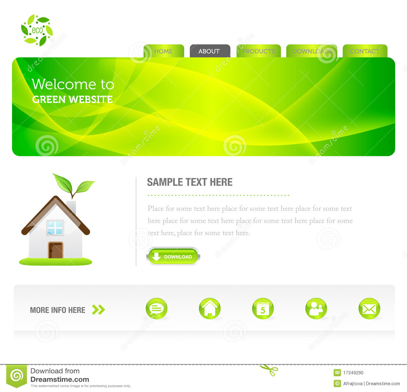 Eco grüne Web site