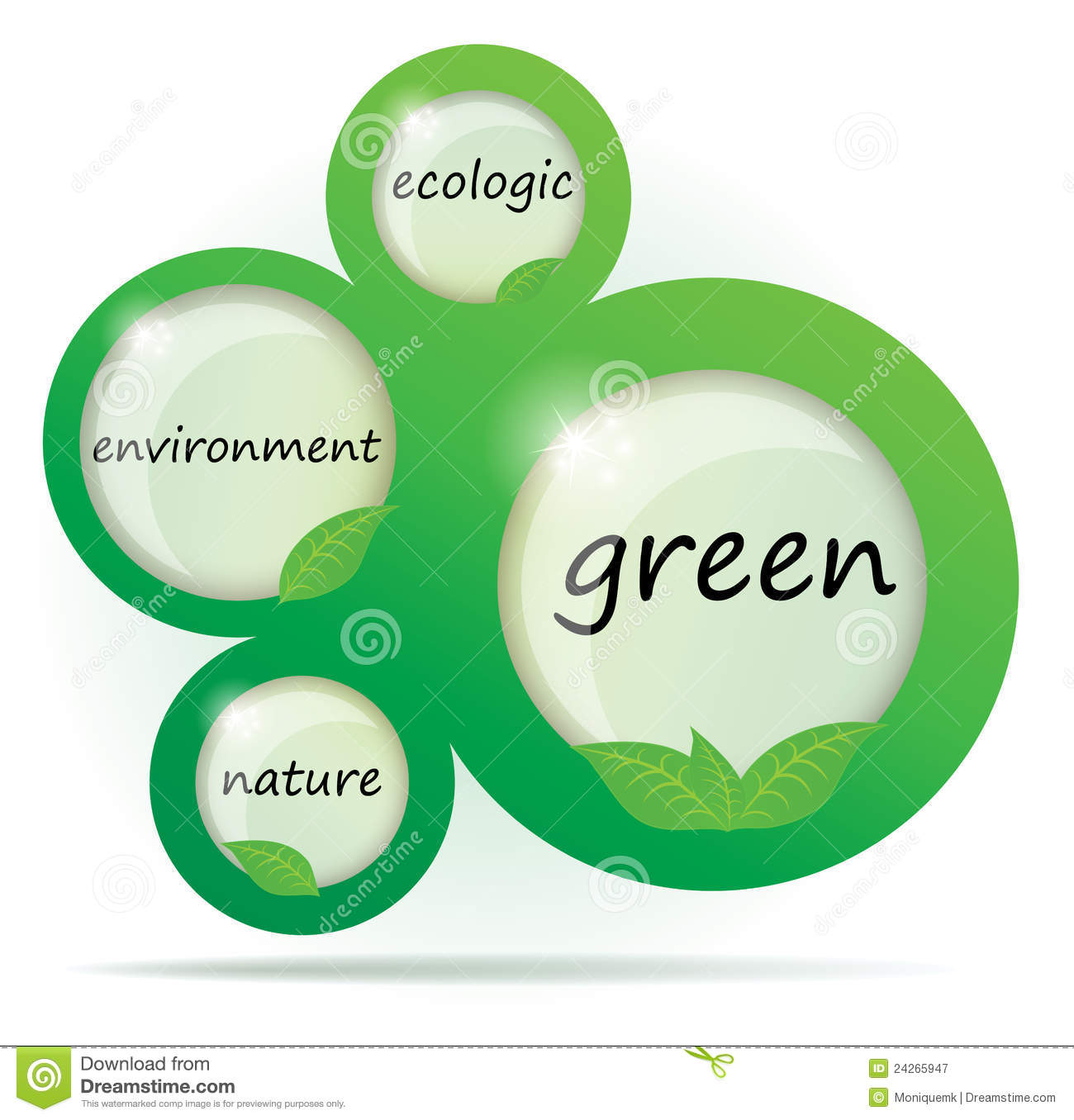 Eco Green Abstract Web Design Stock Vector Illustration Of