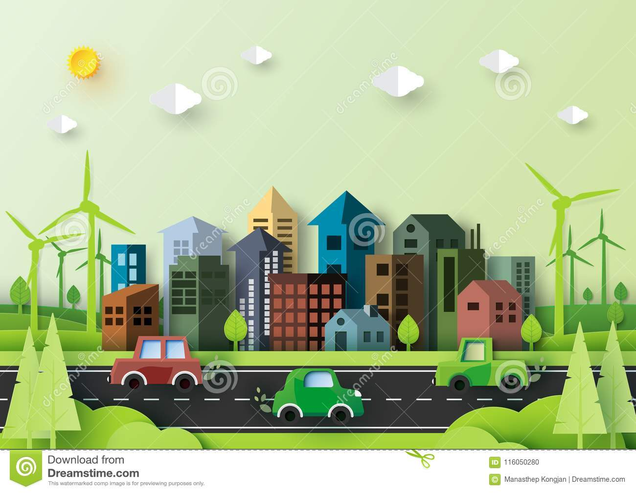 Eco Green City And Urban Nature Landscape Environment