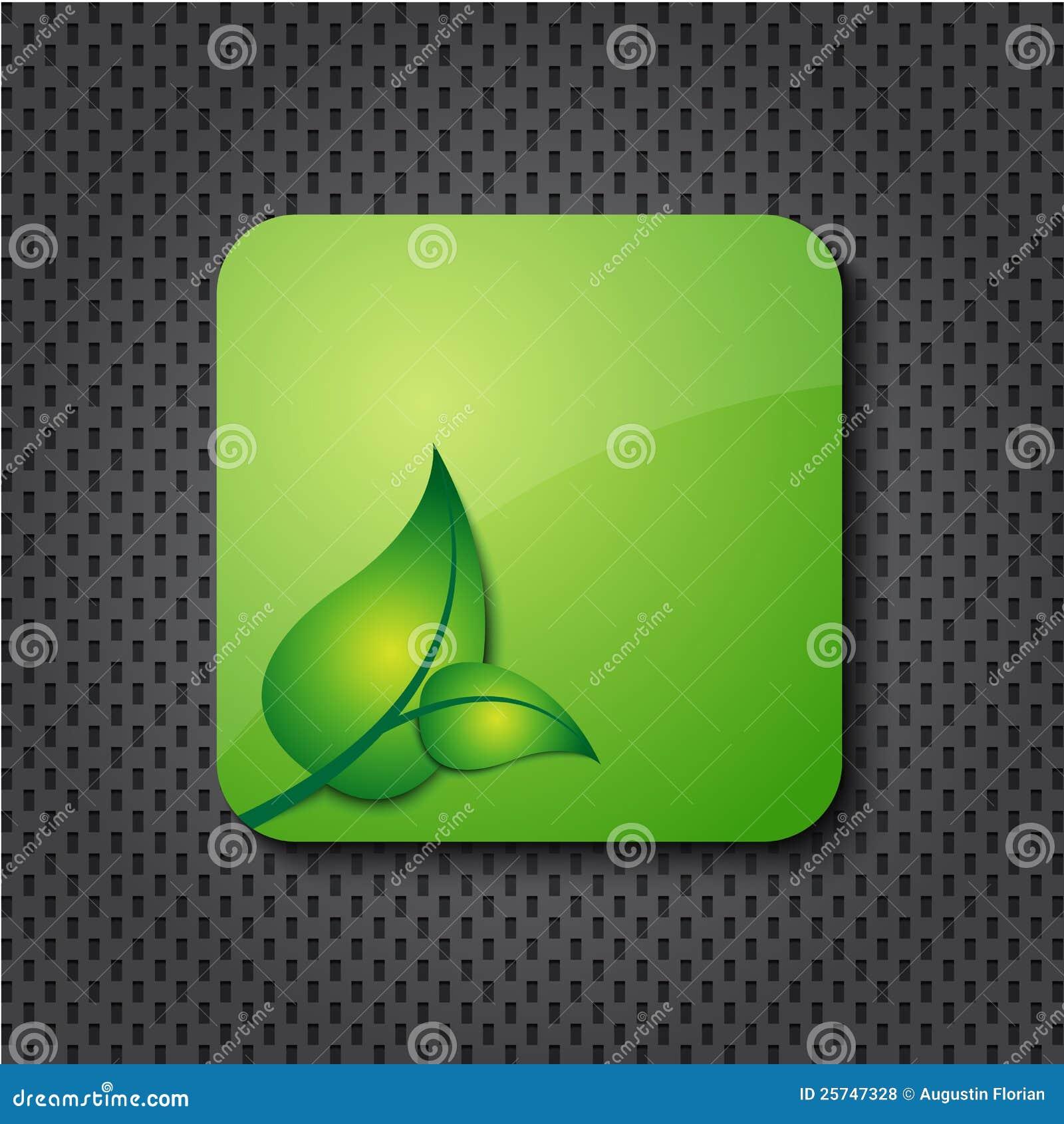 Eco green icon / button