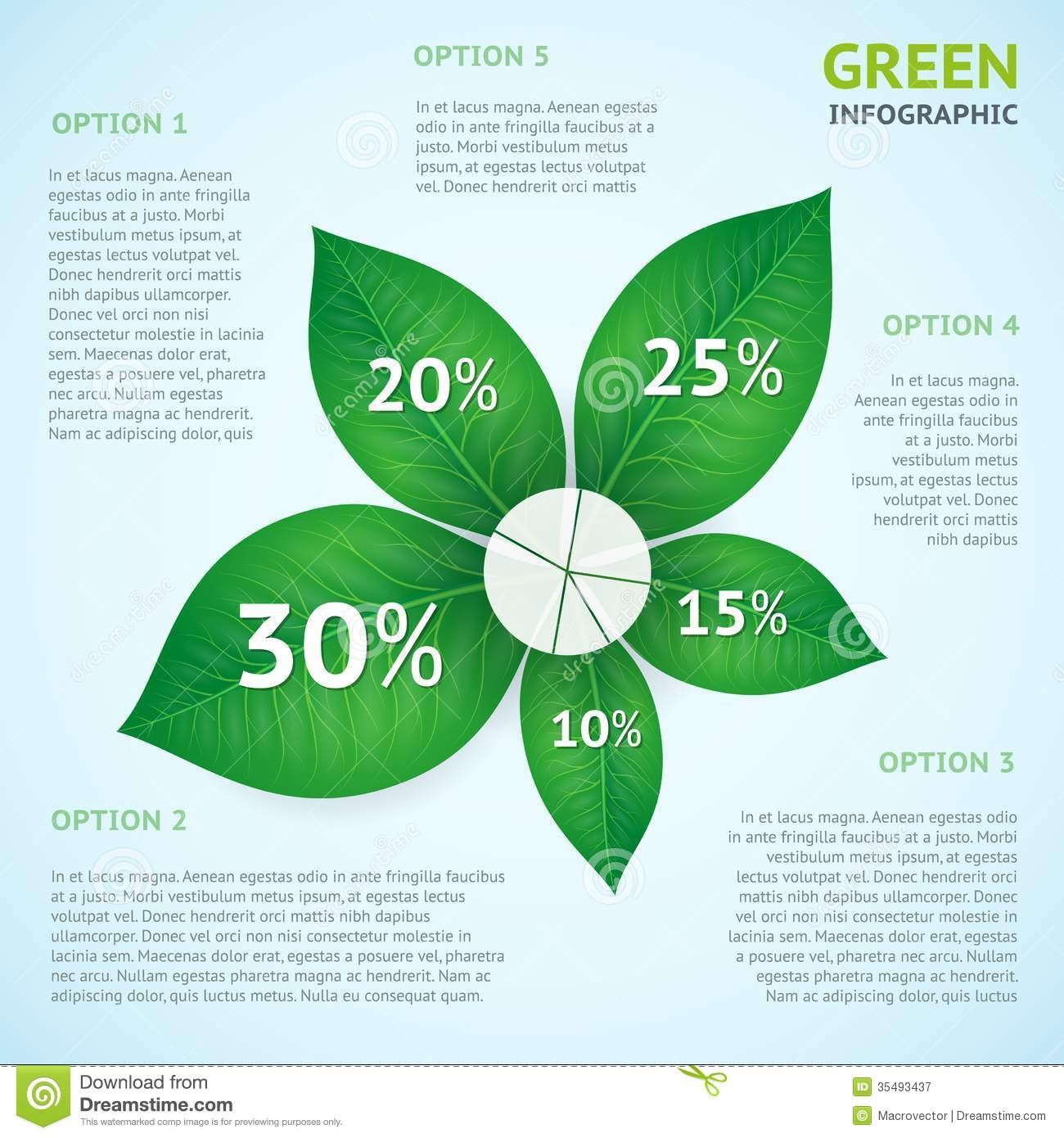 eco green infographics concept stock vector