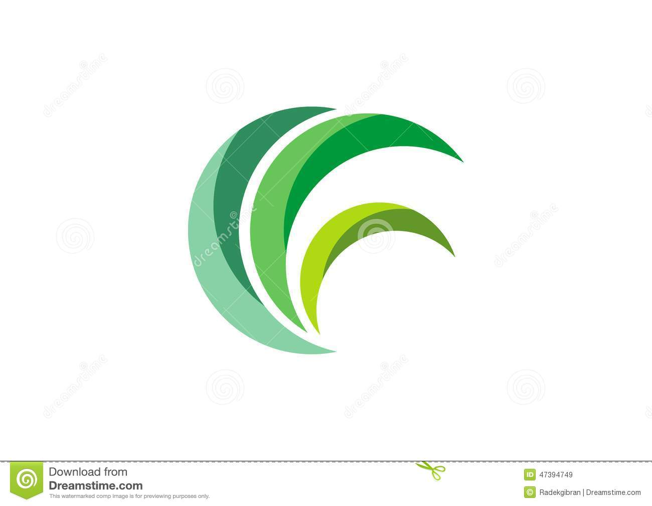 eco green logo circle leaves grass nature plant symbol design vector ecology logotype abstract 47394749