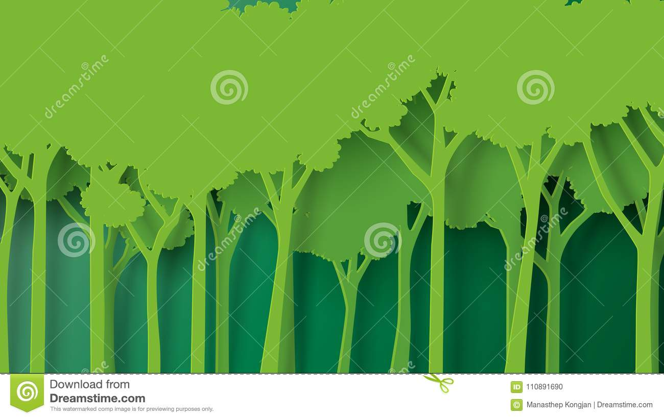 Eco Green Nature Forest Background Template. Stock Vector ...