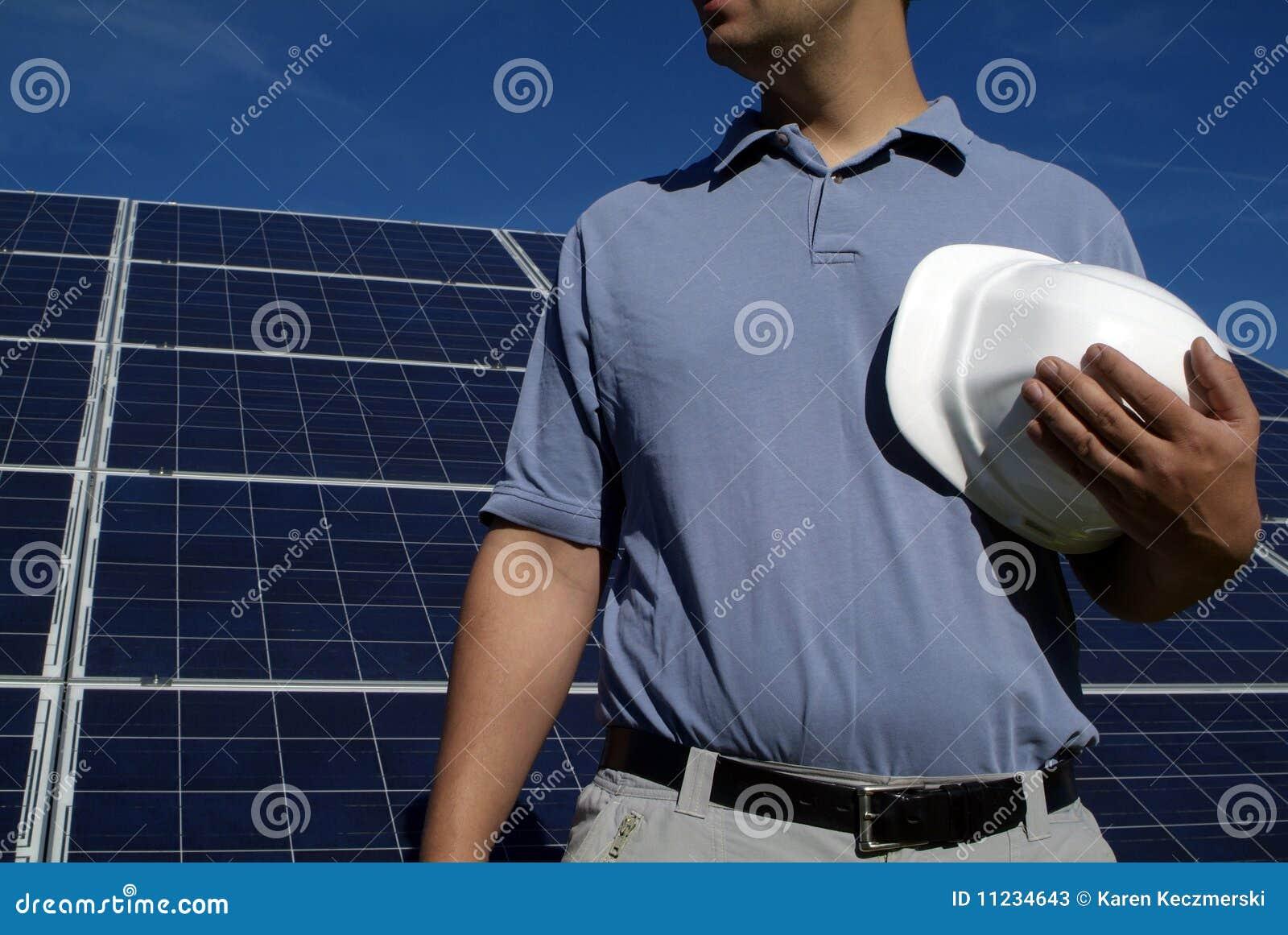 Eco green solar construction job