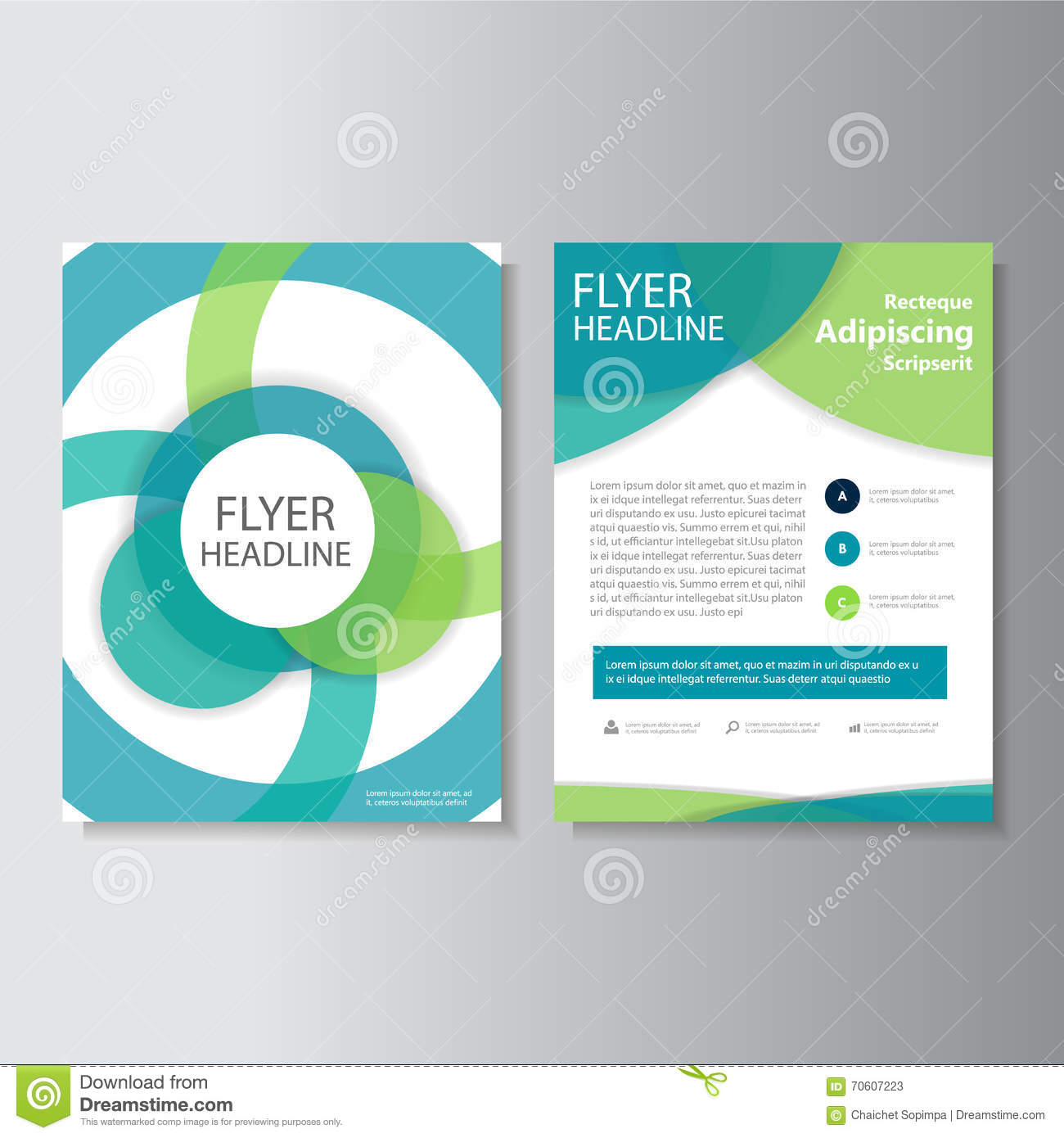 Eco Green Vector Annual Report Leaflet Brochure Flyer Template