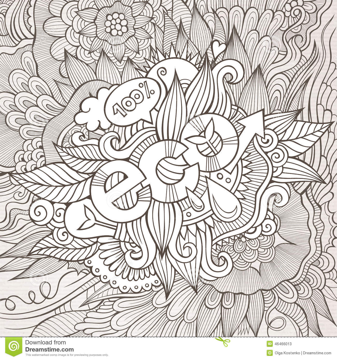 Stock vector music hand lettering and doodles elements - Eco Hand Lettering And Doodles Elements Background Stock Photos