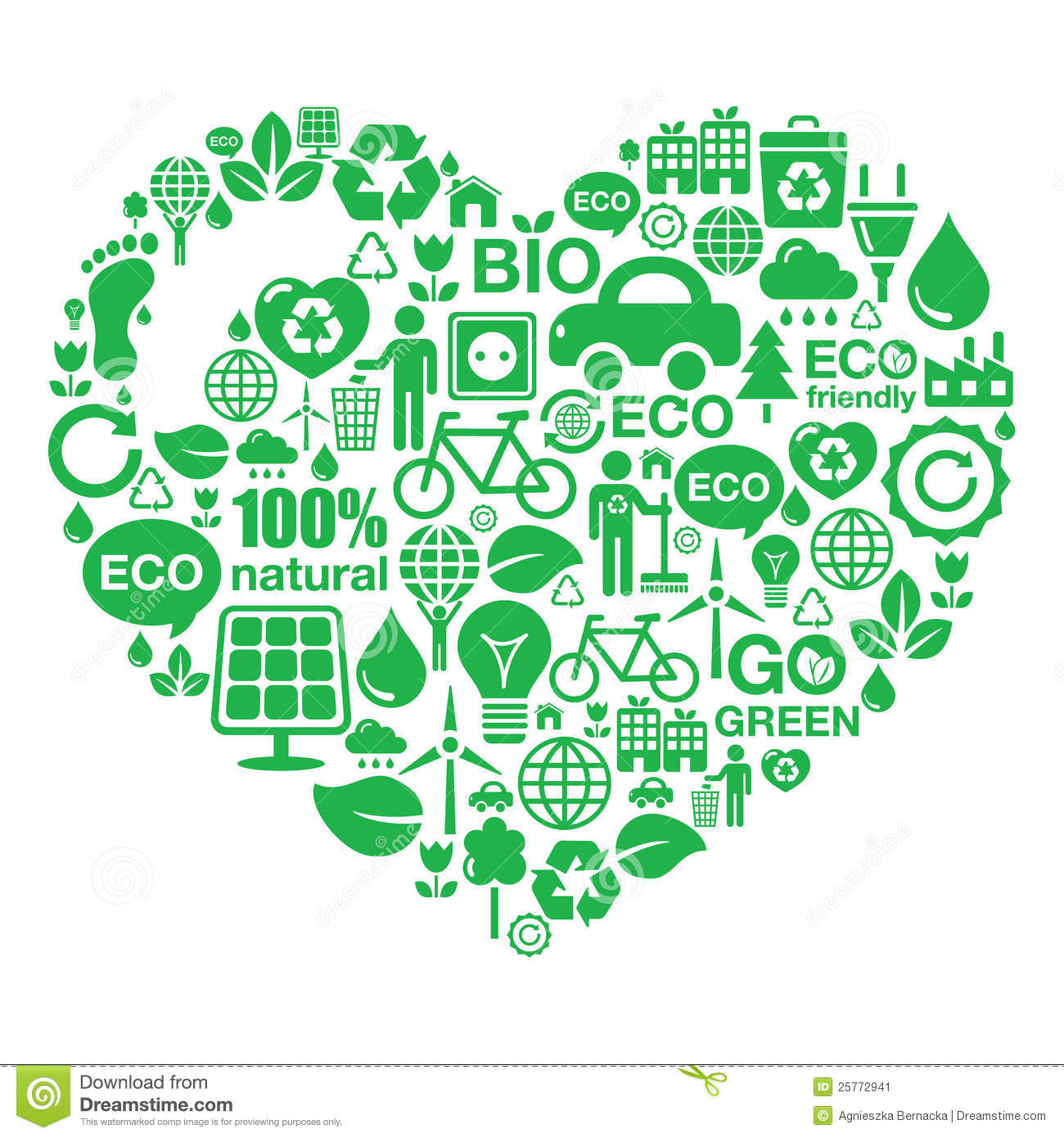 More similar stock images of ` Eco heart background - green ecology `