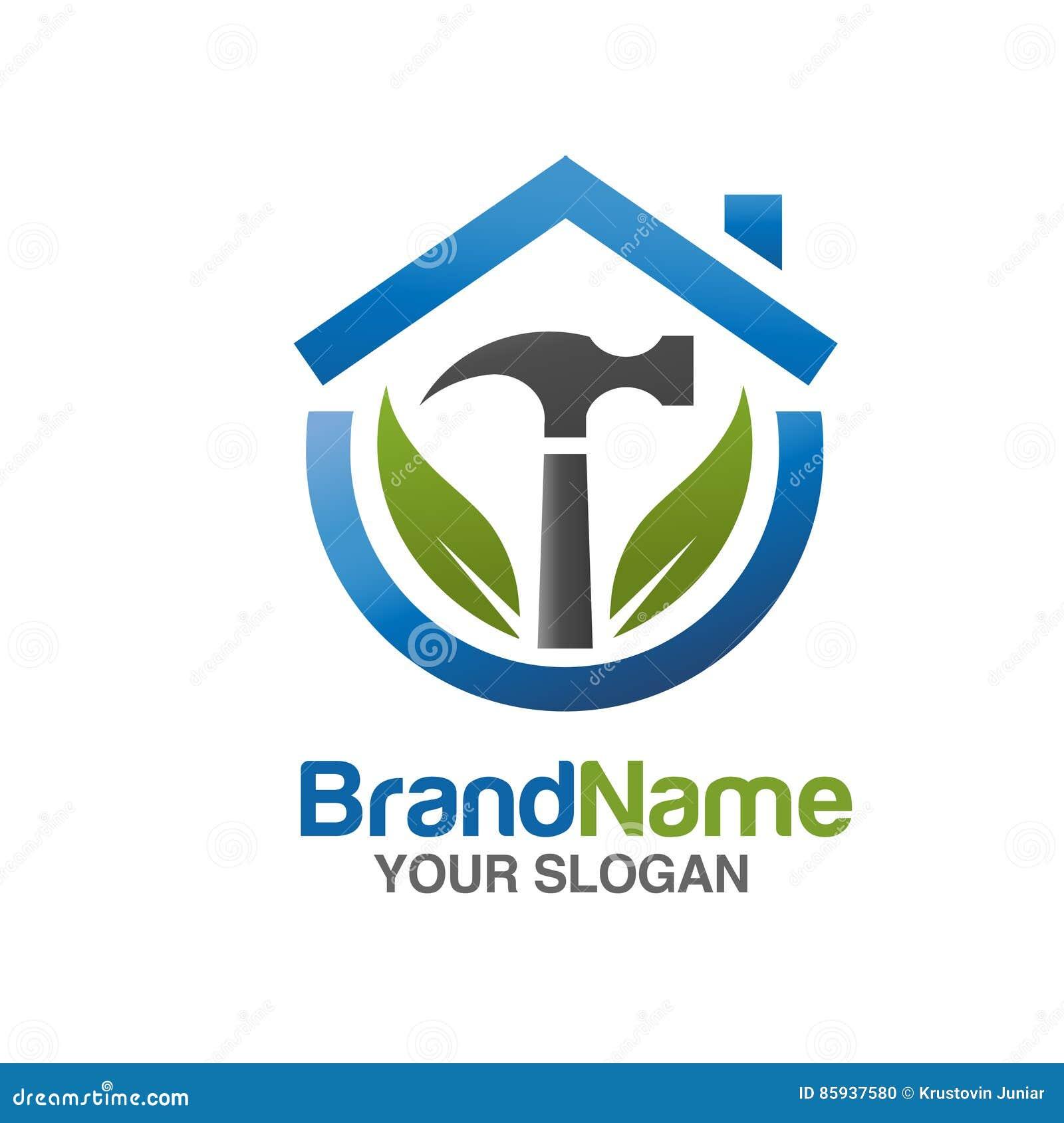 Eco Home Repair Logo Vector Stock Vector Illustration Of Label Maintenance 85937580