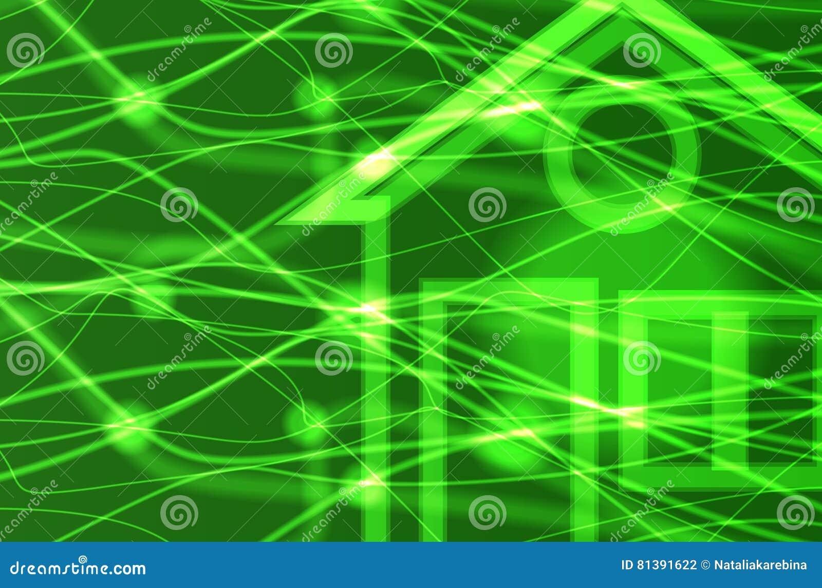 Eco House Invitation Template Card Vector Stock Vector