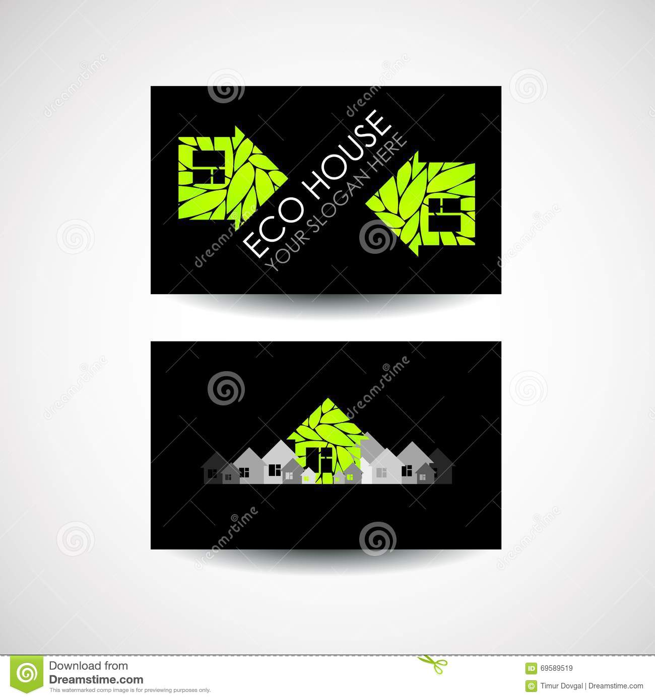 co House Logo nd Business ard Design. cological onstruction ... - ^