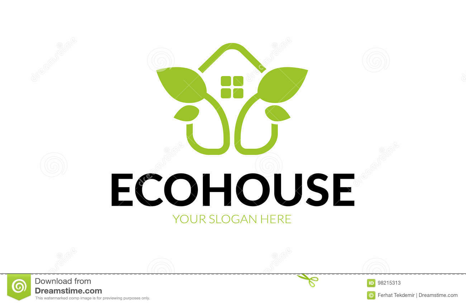Eco House Logo Stock Vector Illustration Of Home Hospital 98215313