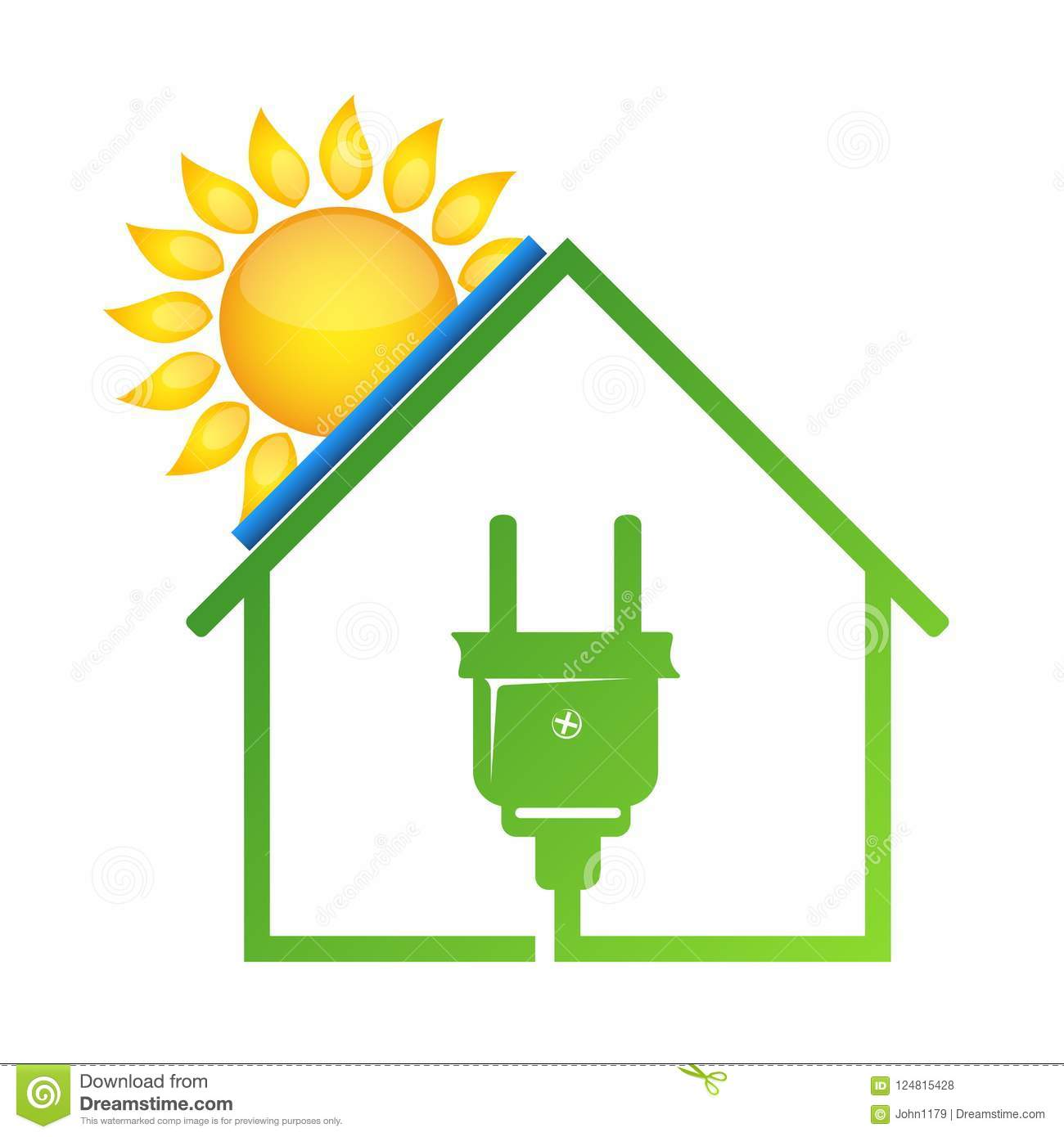 888fd98dcf3a Eco house solar energy electric outlet. More similar stock illustrations