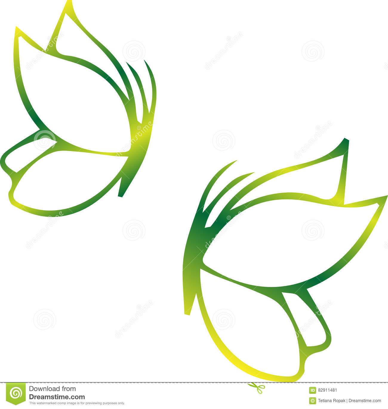 vector background with butterfly vector illustration