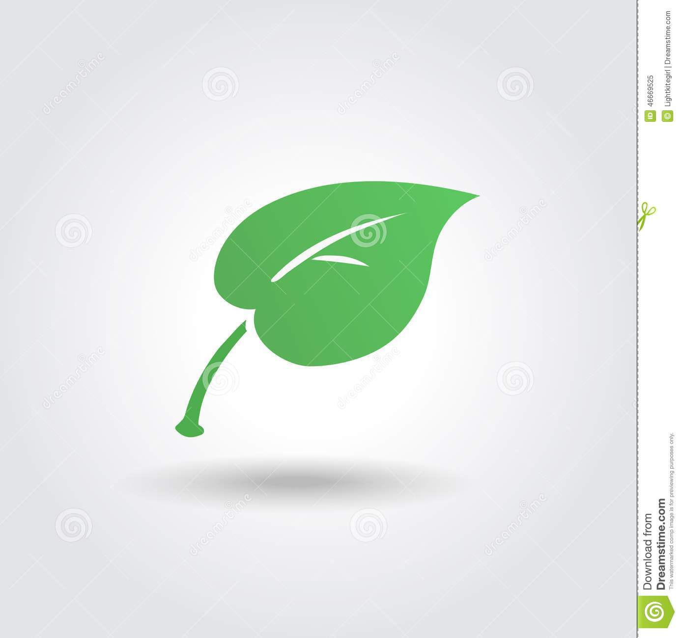 eco icon with green leaf vector bio sign stock vector