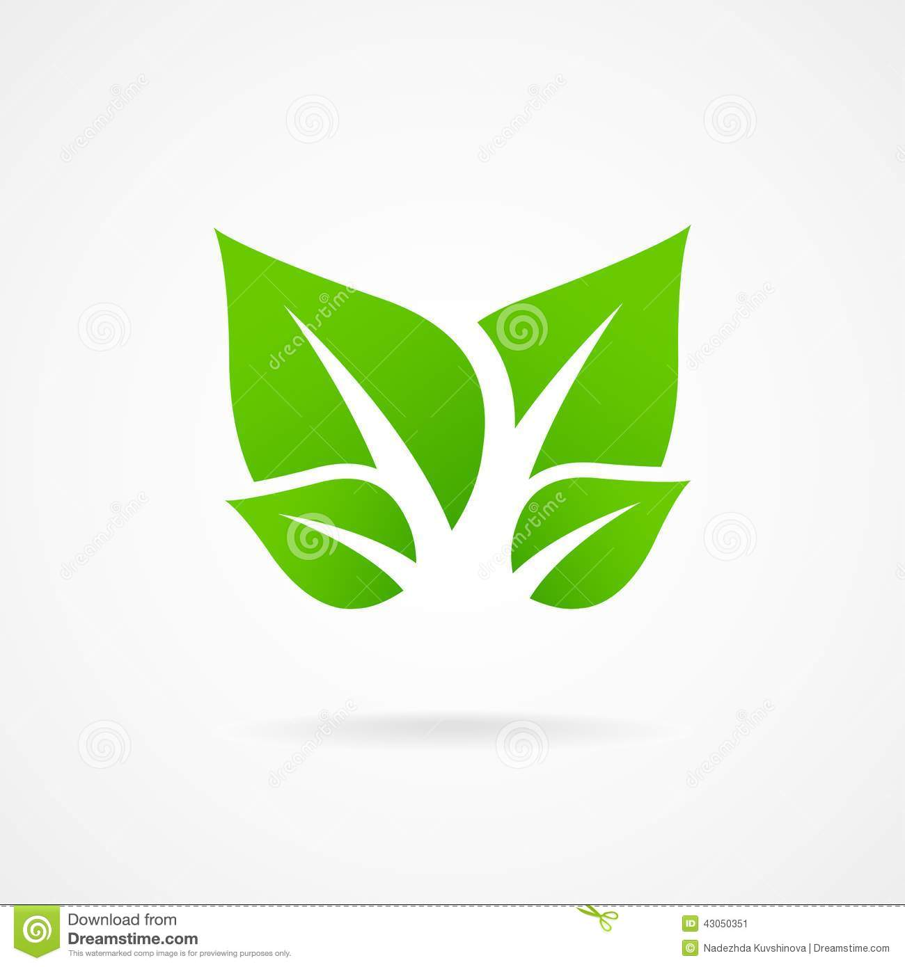 Eco Icon Green Leaf Vector Stock Vector - Image: 43050351