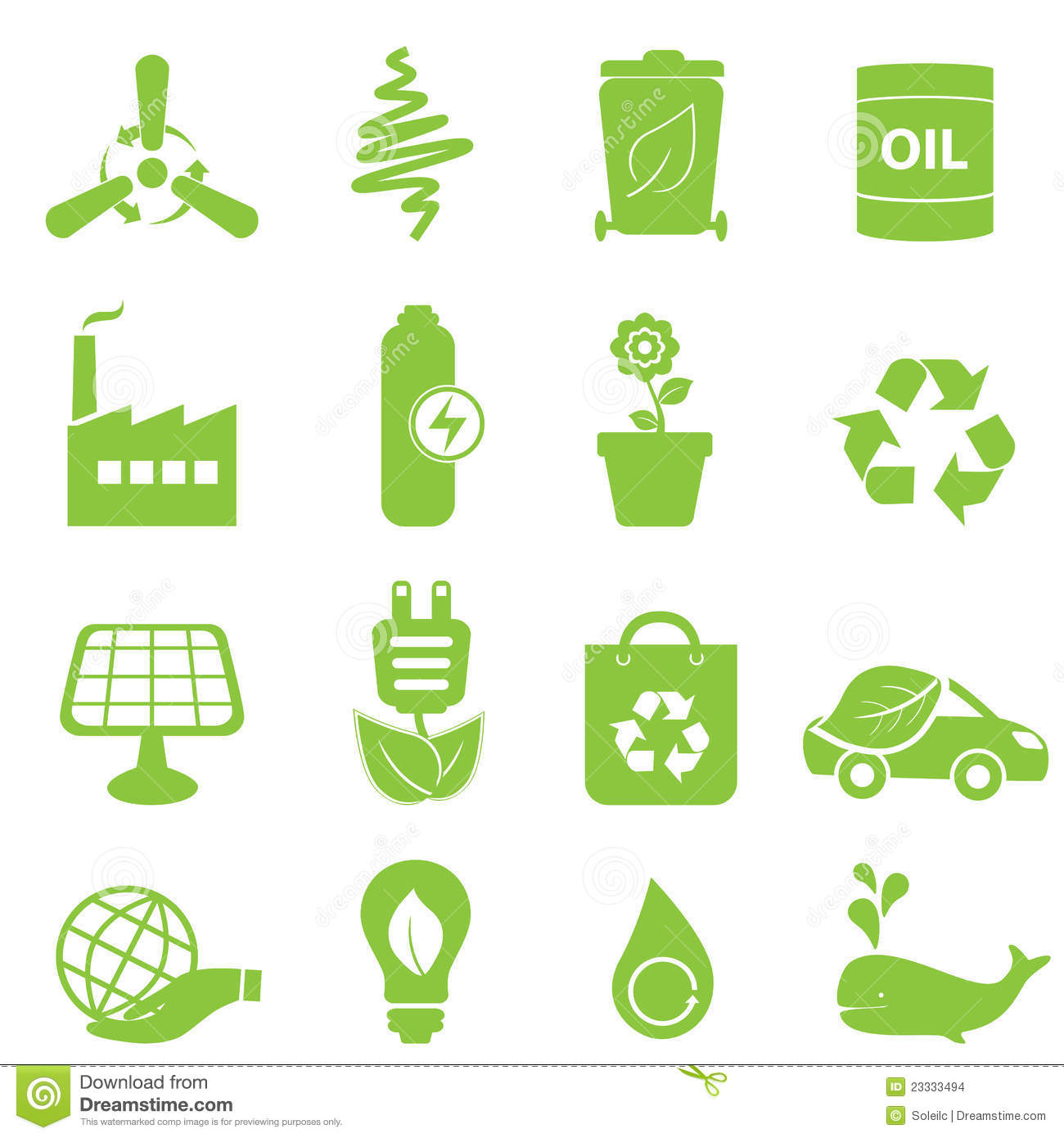 Eco Icon Set Stock Images - Image: 23333494