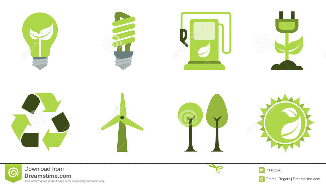 eco icons set stock vector image of energy biofuel