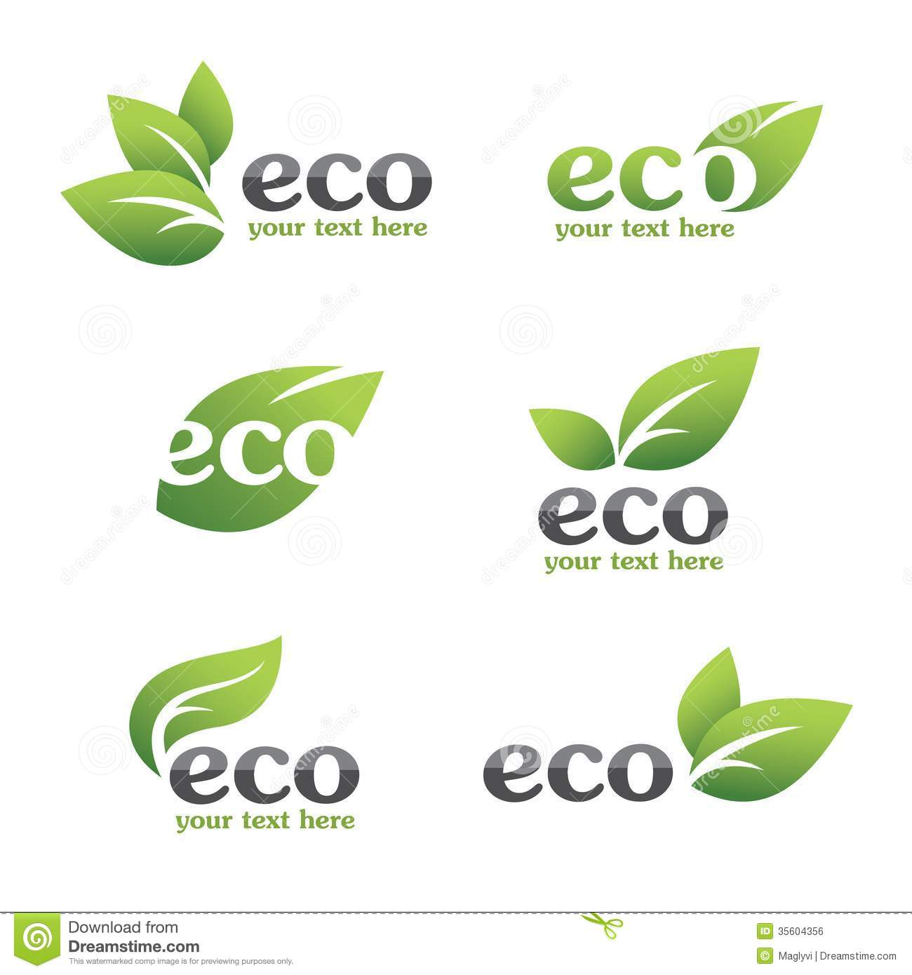 Eco Icons Royalty Free Stock Image - Image: 35604356