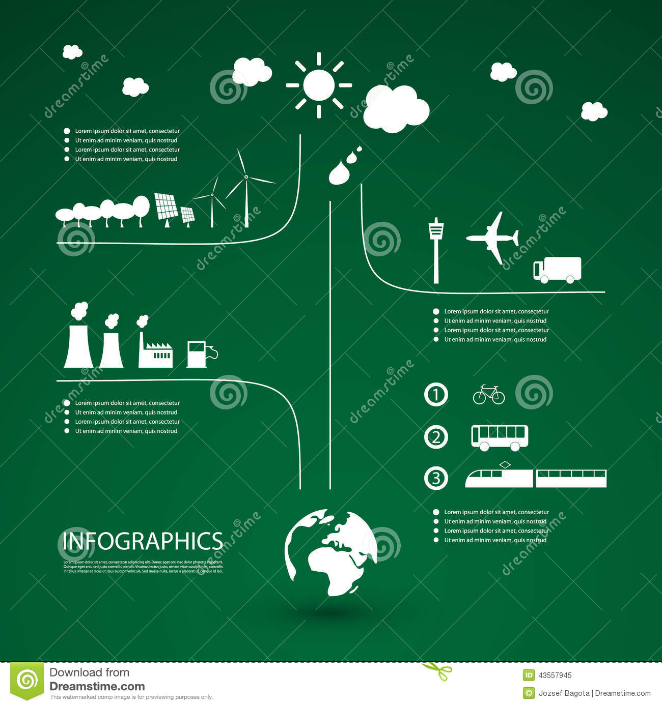 eco infographic design stock vector  image of building