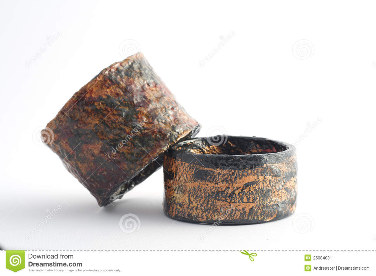 Eco Jewelry Bracelet In Paper Mache Stock Image Image