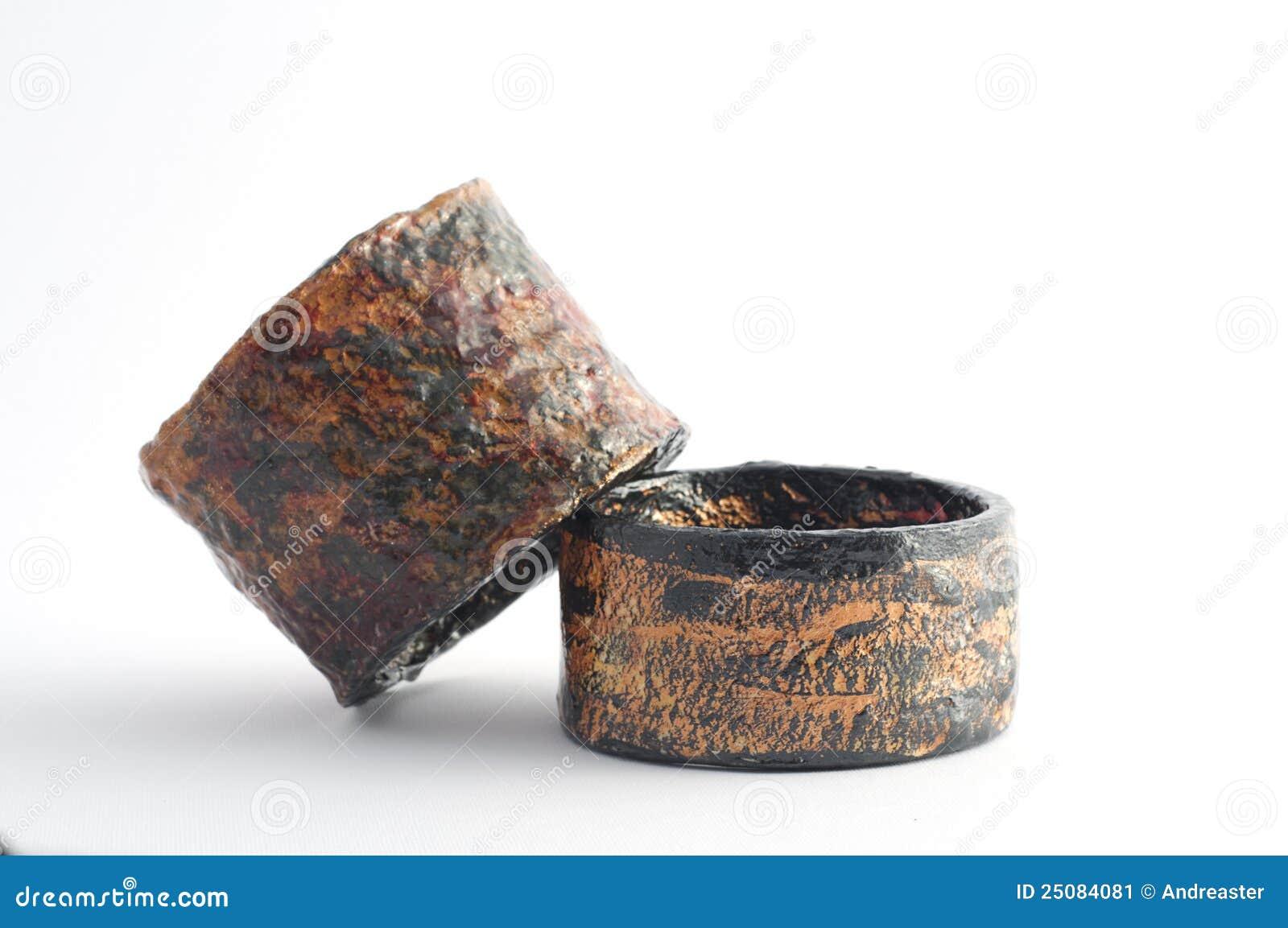 Eco jewelry bracelet in paper mache stock image image for How to make paper mache jewelry