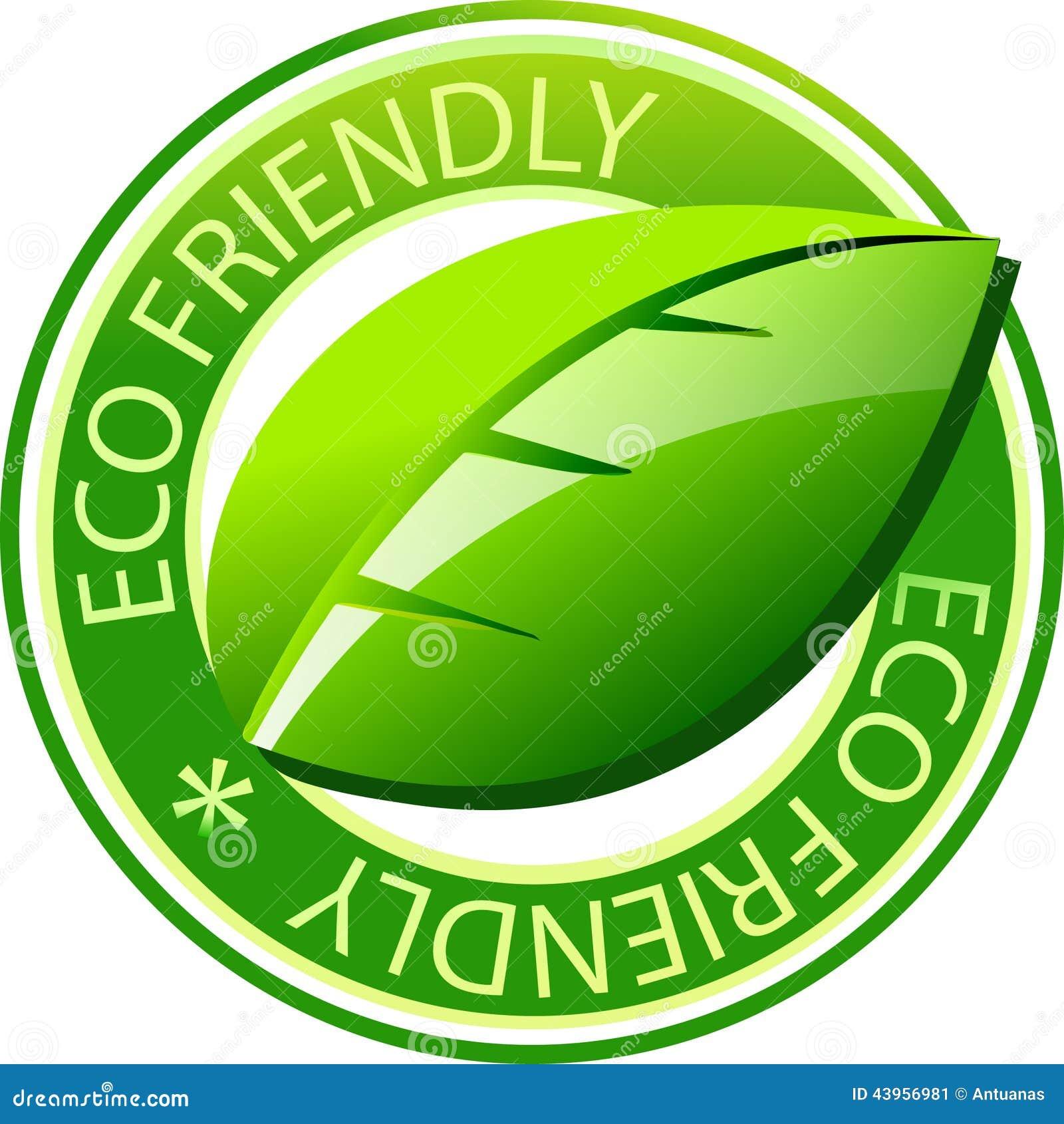 Eco Label Stock Vector