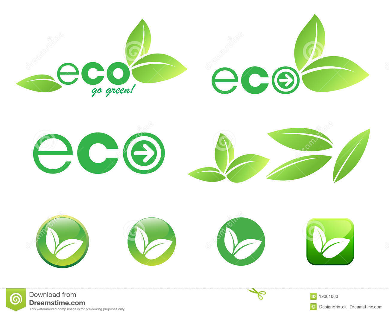 Eco leaf icon illustration.This image is a illustration and can be ...