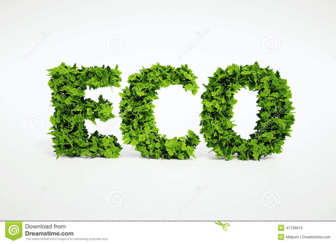 Eco leaf text stock illustration  Illustration of background - 41736615