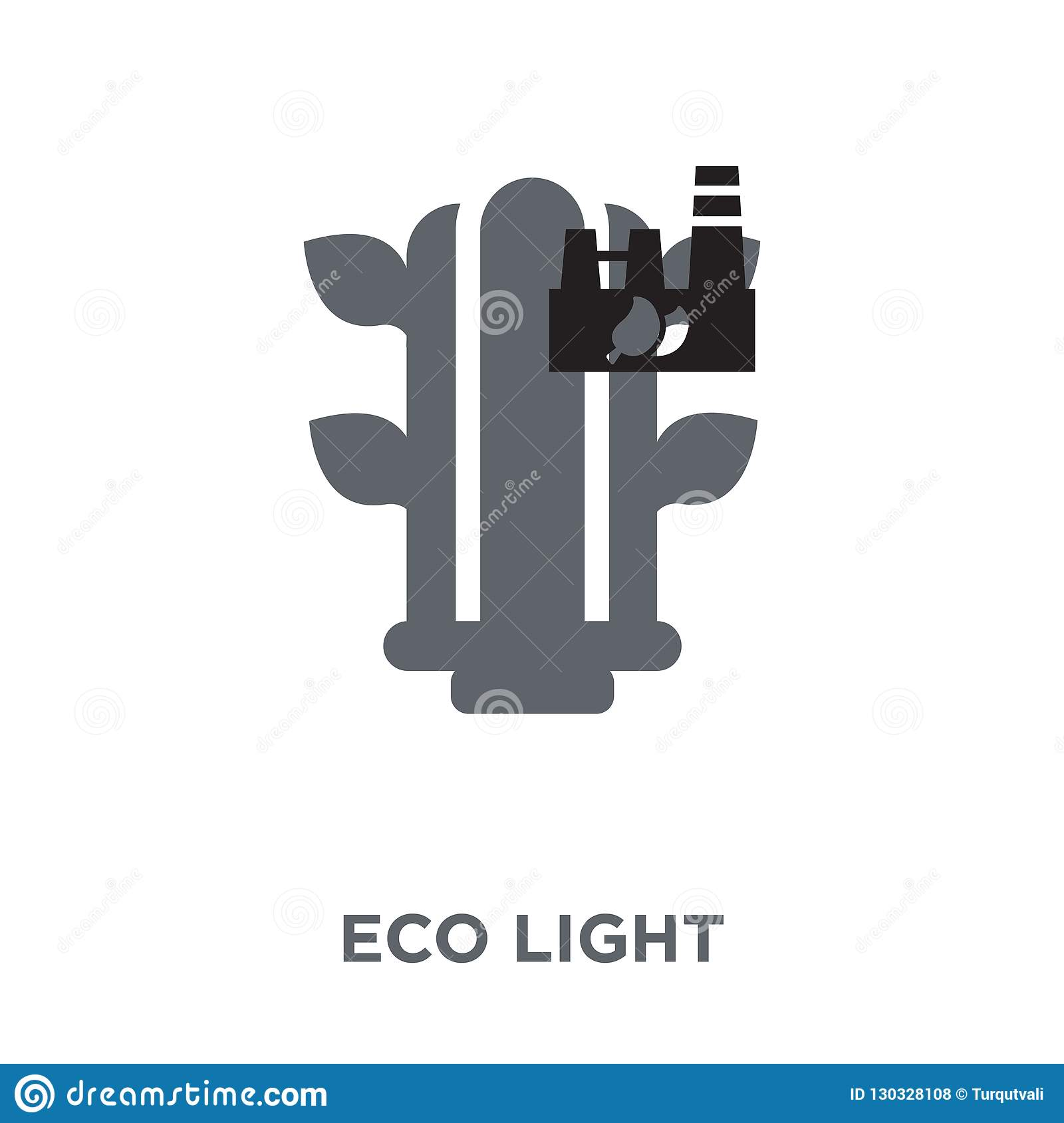 Eco light icon from Ecology collection.