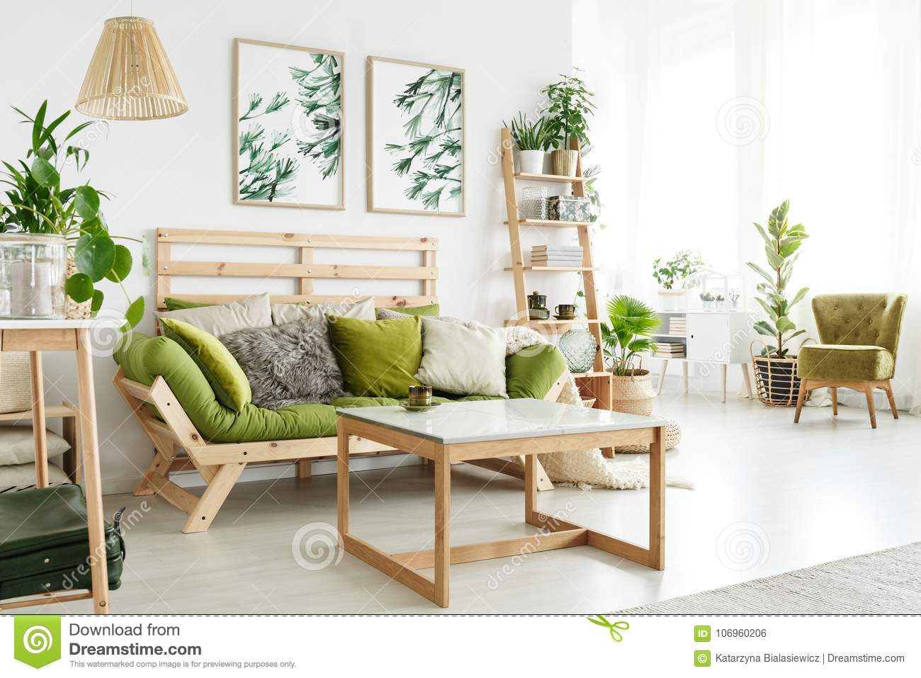 Eco Living Room With Plants